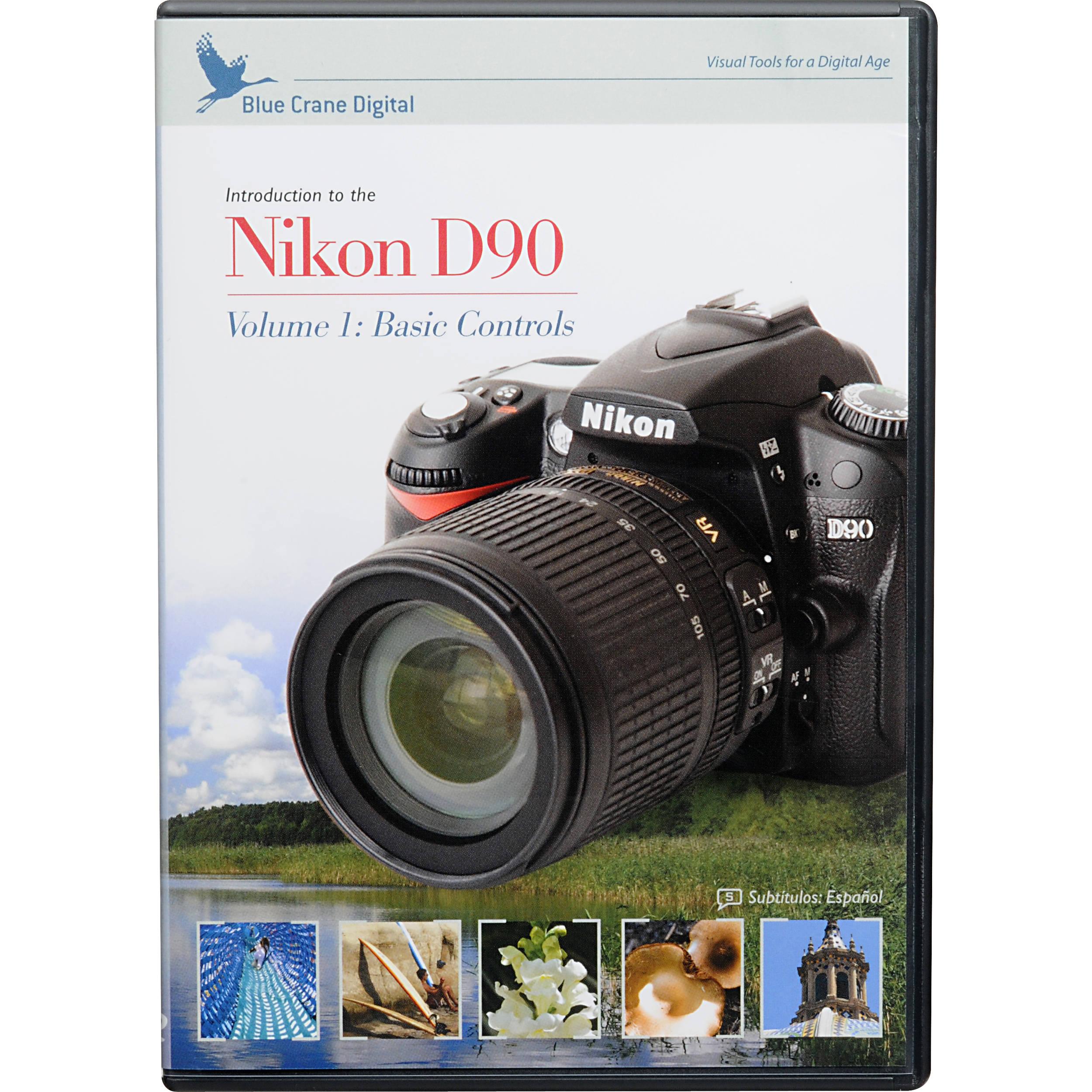 Blue Crane Digital DVD: Training DVD for the Nikon D90 Digital SLR Camera  (Volume