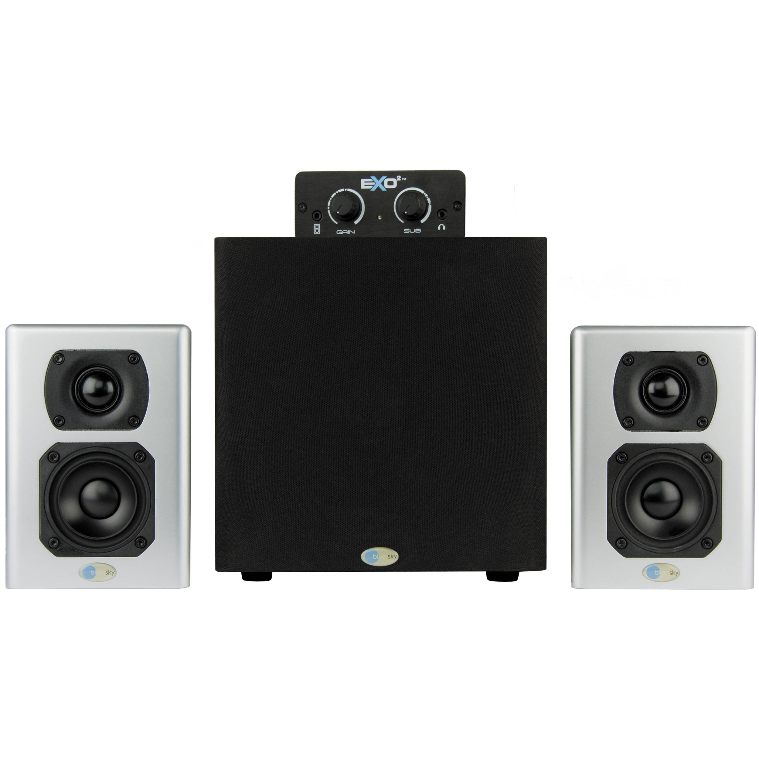 Blue Sky International Exo2 Active 21 Desktop Speaker Bh Free Plans Odd Way Of Wiring Three Speakers To An Amp 1 Monitoring System