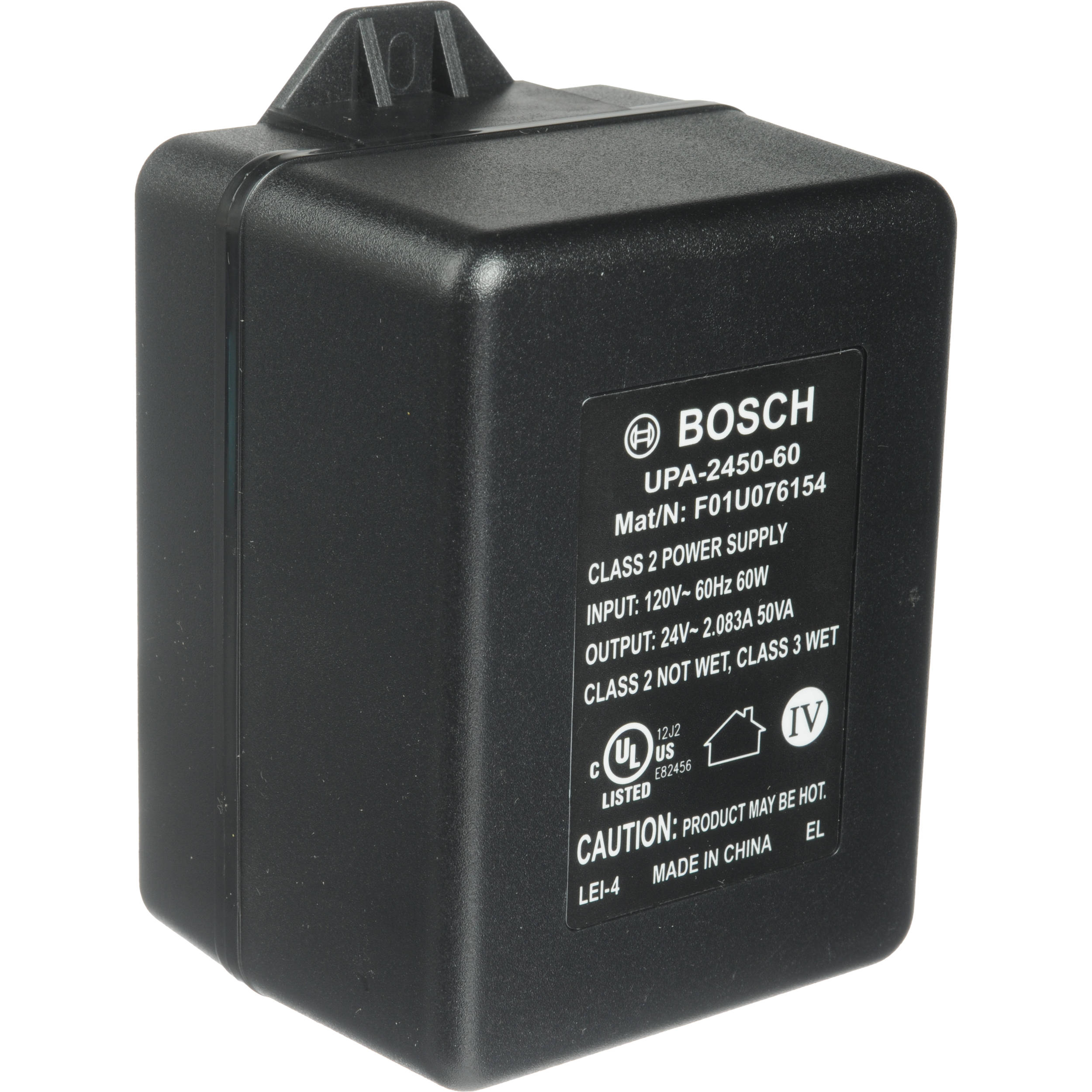 Bosch UPA-2450-60 24 VAC Power Supply (50 VA, 60Hz)