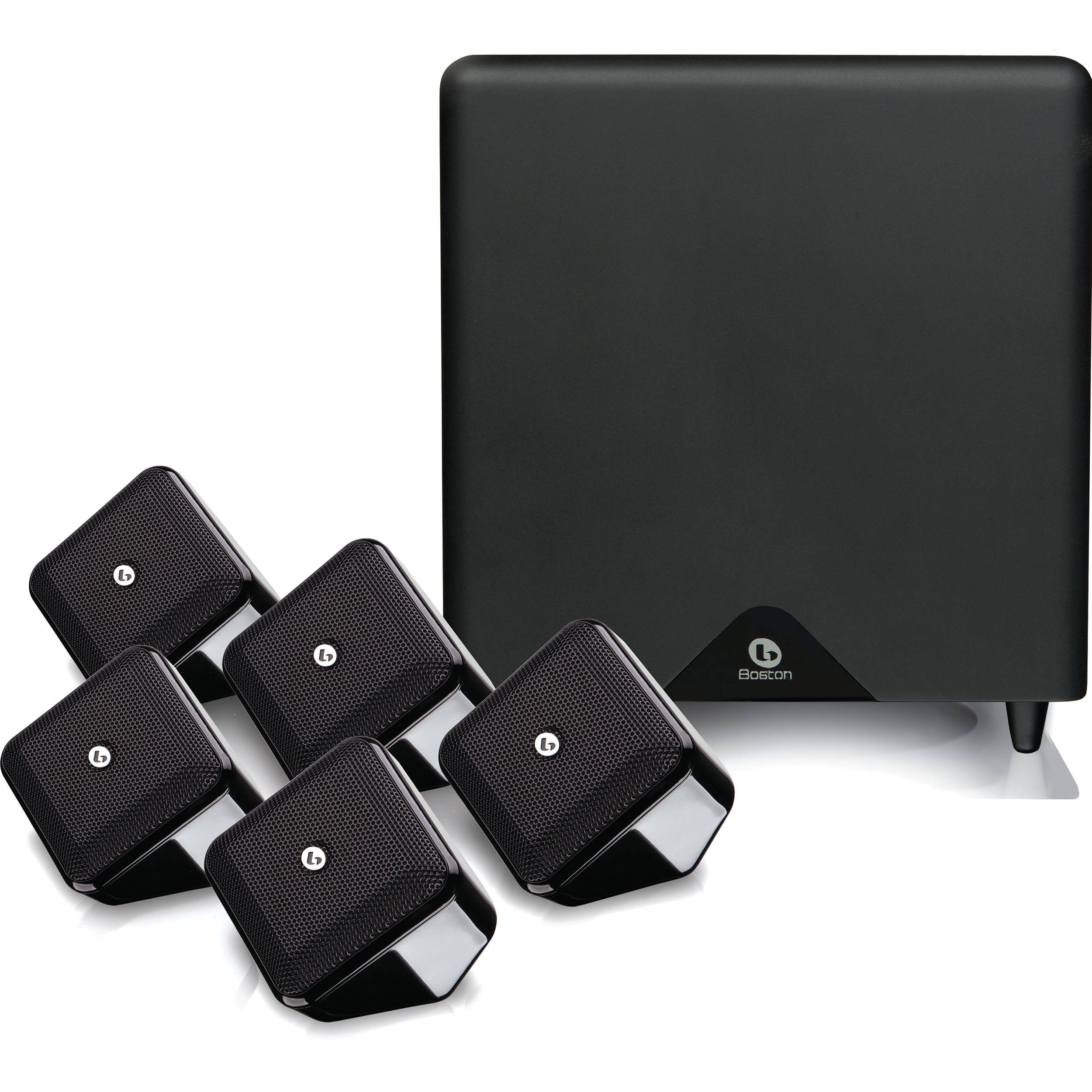 Boston Acoustics Soundware Xs 51 Se Home Theater Sndwrxshtsse A 250 System High Gloss Black