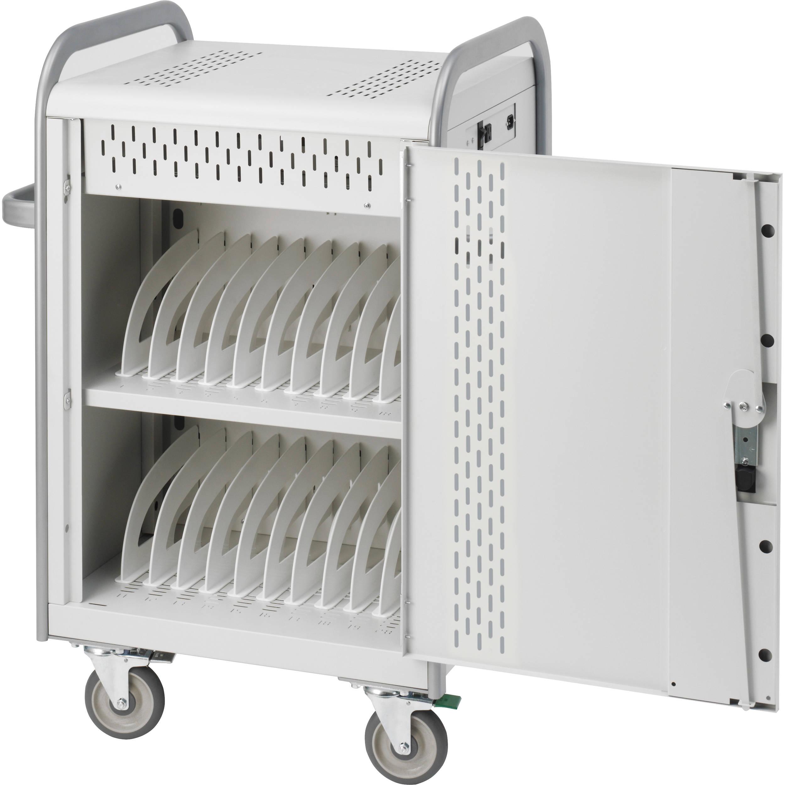 bretford 20unit mdm laptop cart with backdoors - Laptop Cart