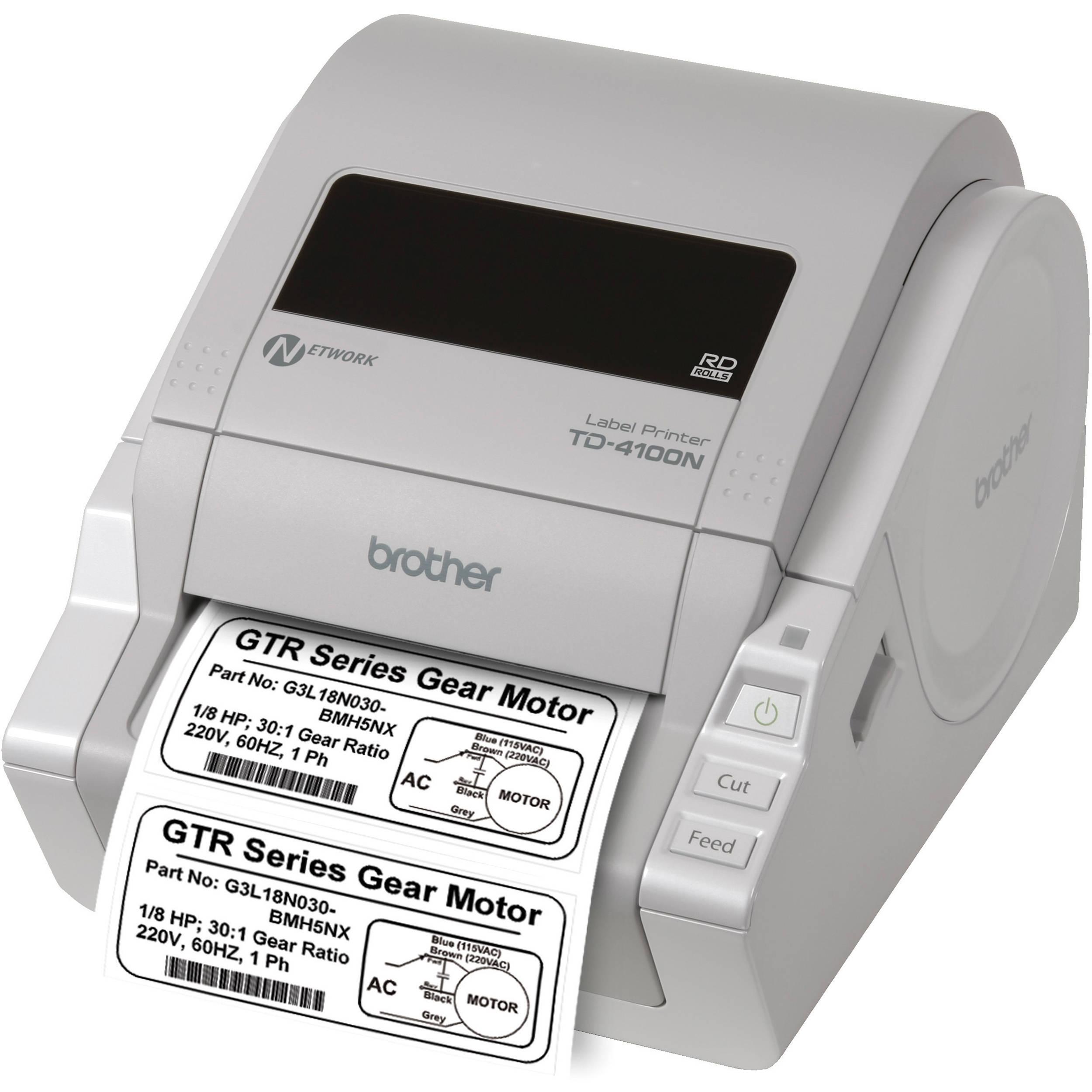 Brother TD-4100N Desktop Bar Code Network Printer TD4100N B&H