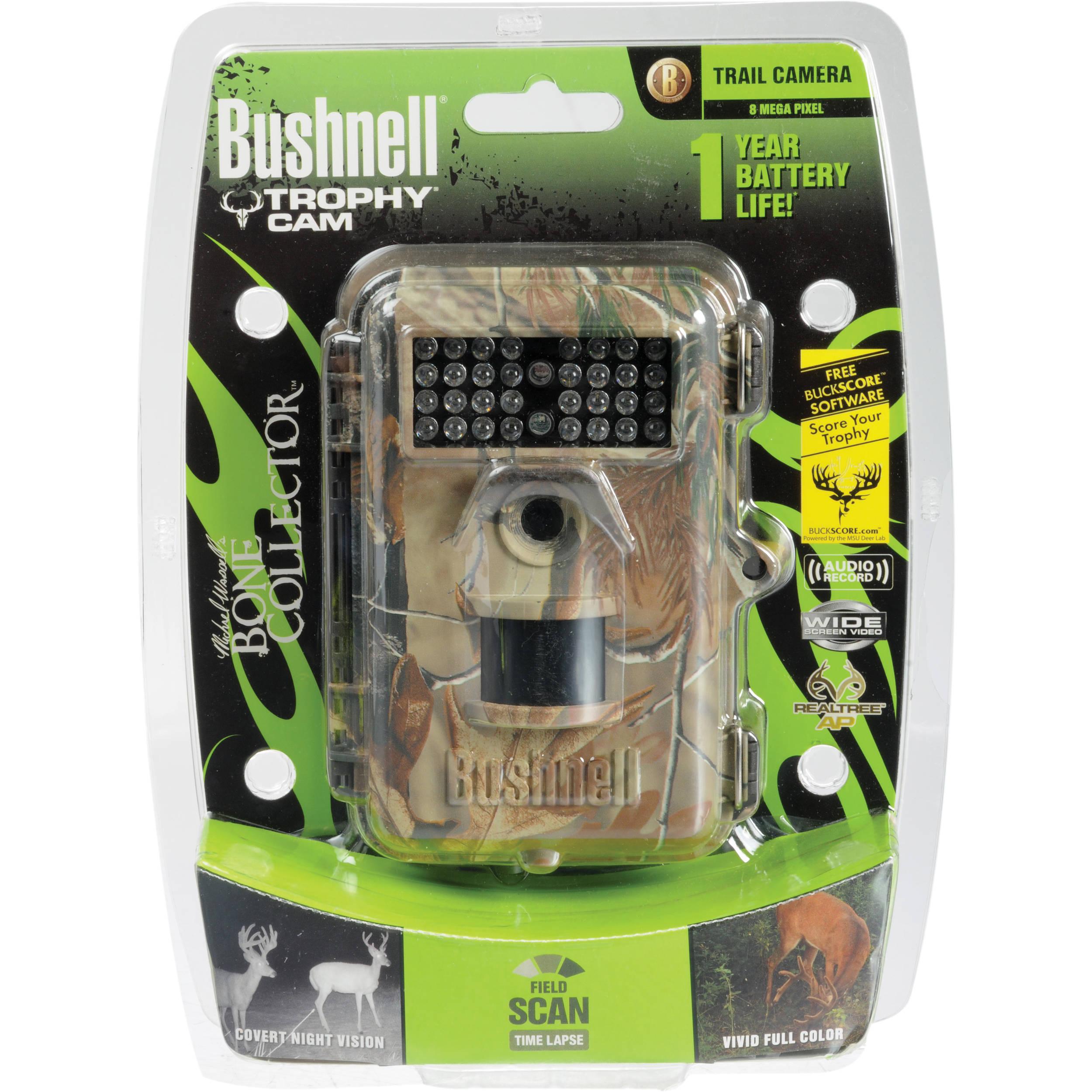 bushnell 8mp trophy cam bone collector edition trail 119446c b h