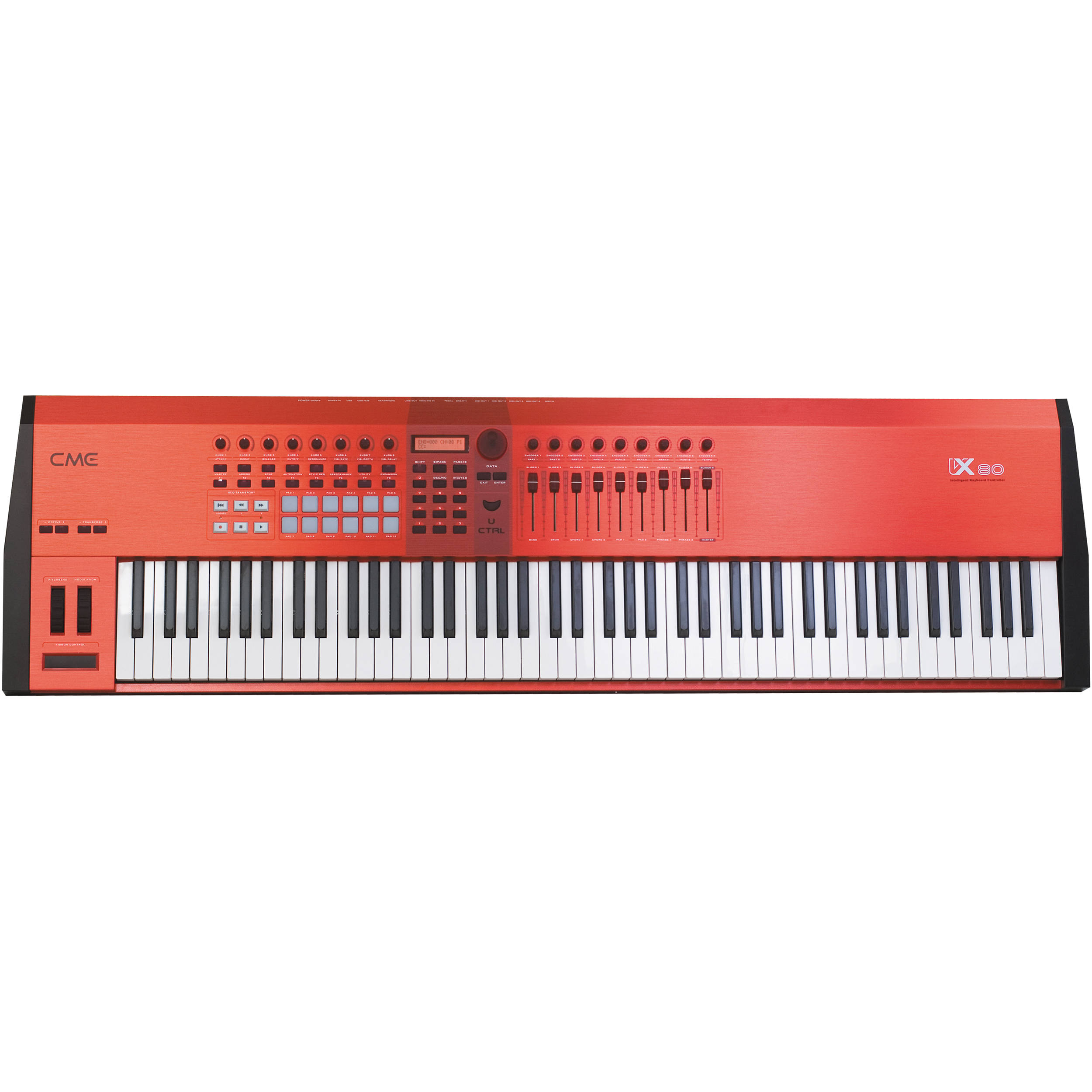 Cme Vx70 Keyboard Controller With Motorized Faders And Usb