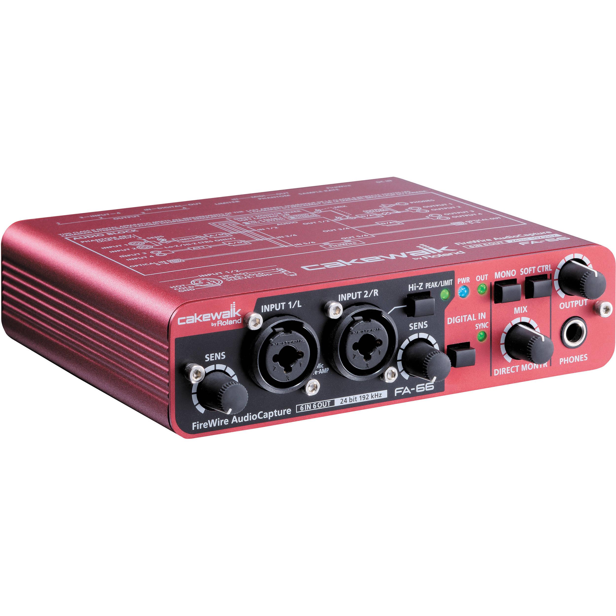 Roland FA-66 - Portable FireWire Interface FA-66CW B&H Photo