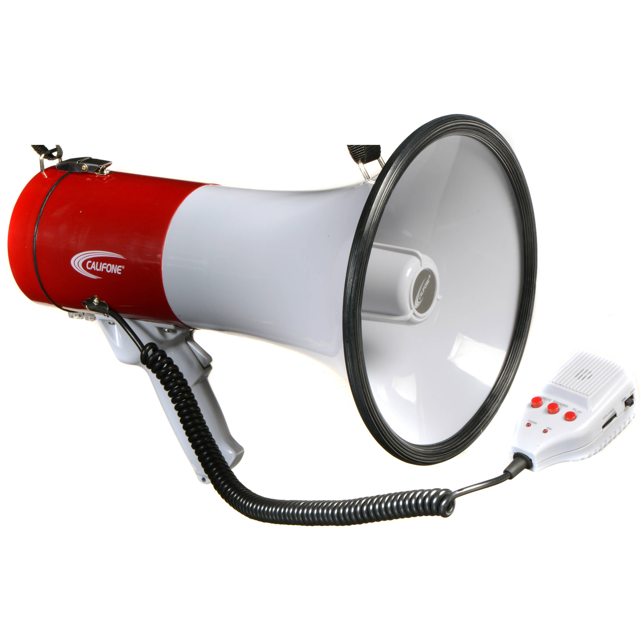 image of megaphone Califone PA25R 25W Handheld Megaphone with Detachable PA-25R B