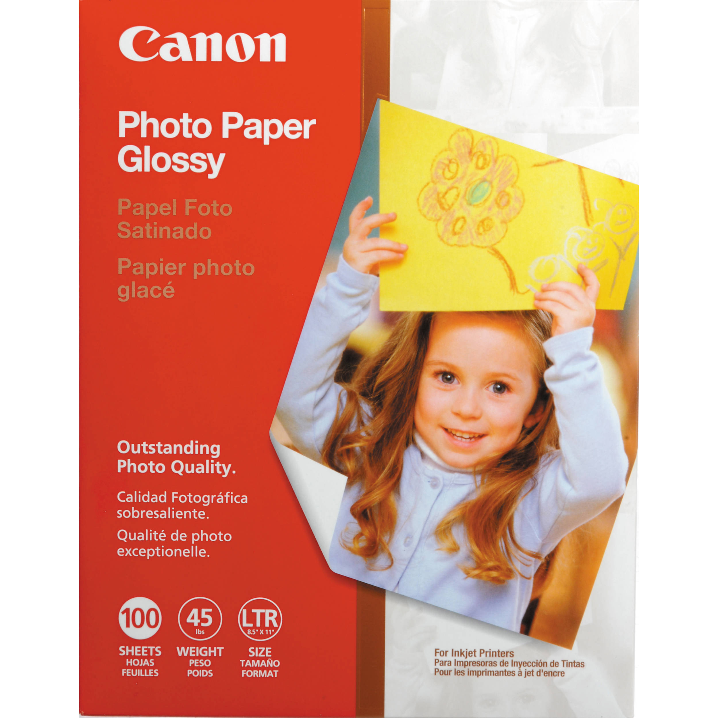 Canon Glossy Photo Paper 85x11 100 Sheets 0775b024