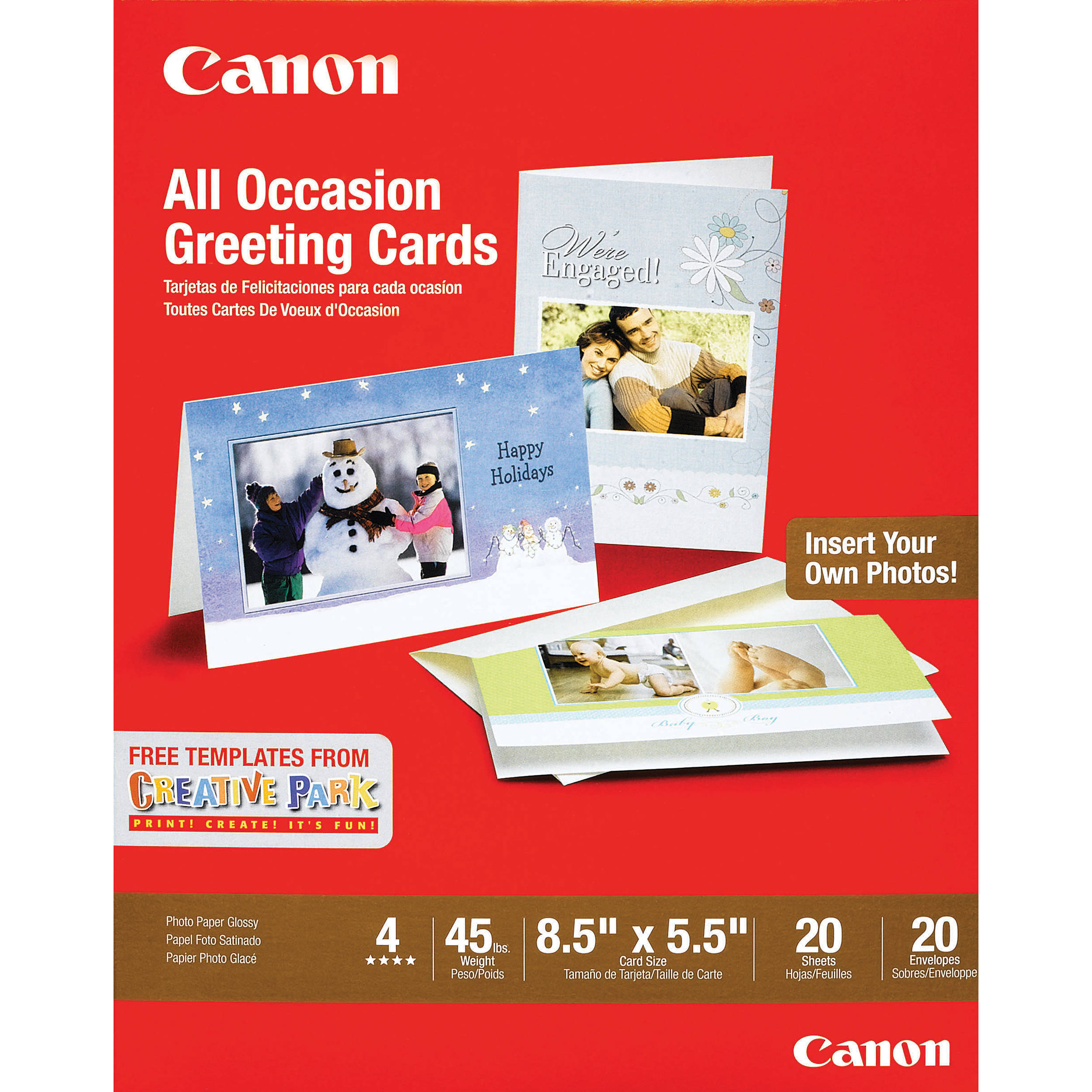 Canon all occasion greeting cards 85 x 55 20 0775b056 canon all occasion greeting cards 85 x 55 20 sheets envelopes m4hsunfo