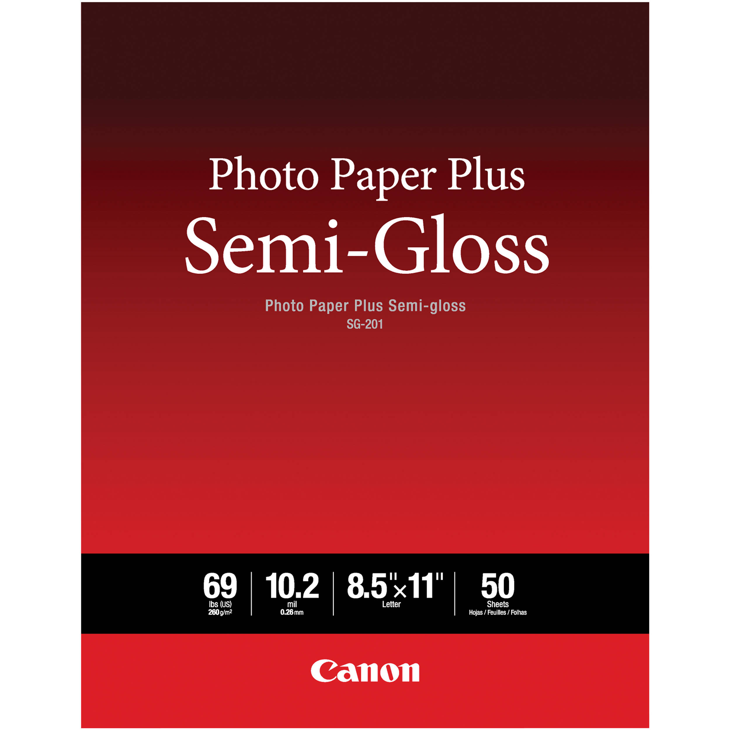 Canon Sg 201 Photo Paper Plus Semi Gloss 1686b063 Bh Photo