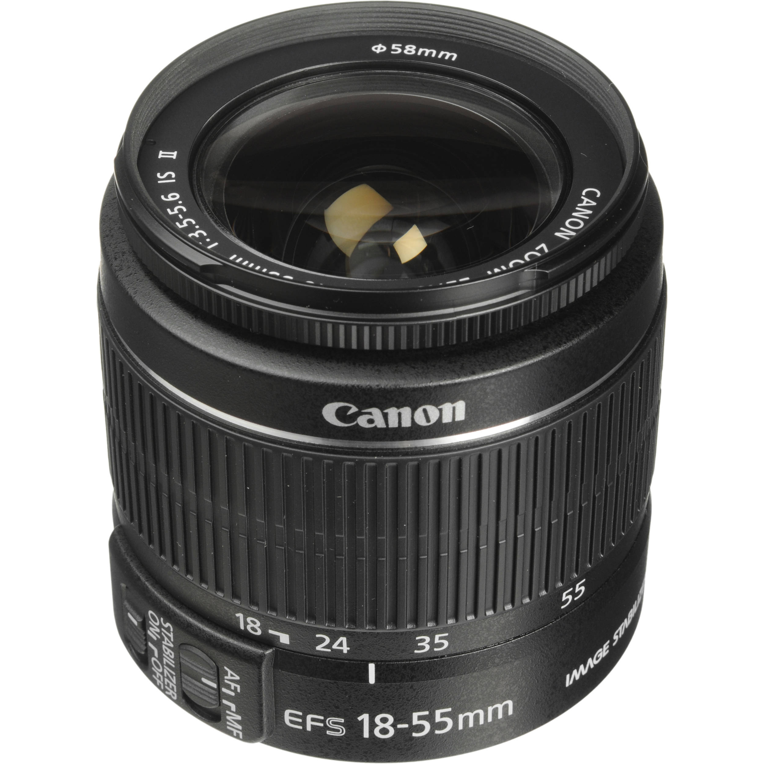 canon ef s 18 55mm f 3 5 5 6 is ii lens white box 2042b002wb. Black Bedroom Furniture Sets. Home Design Ideas