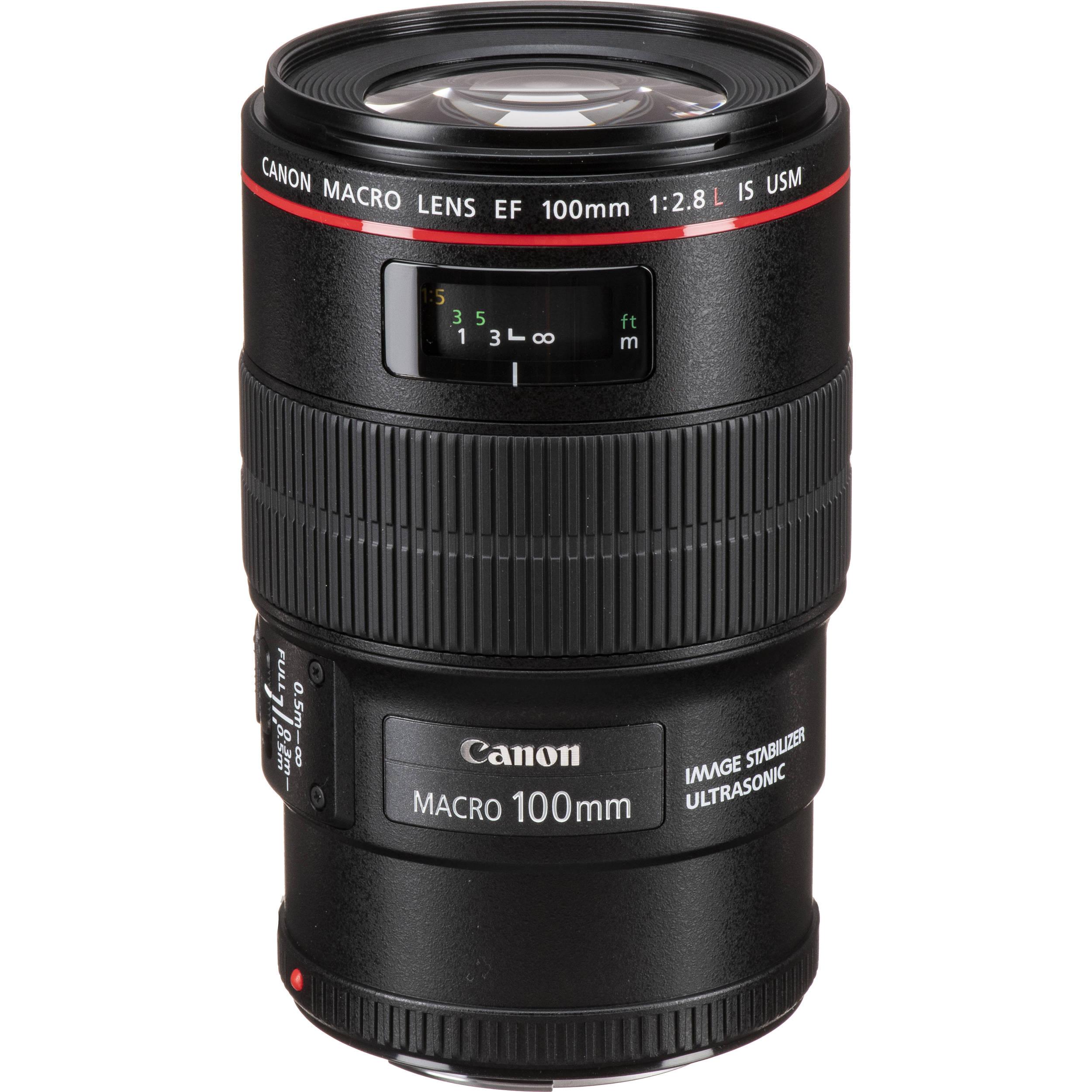 Canon EF 100mm f/2.8L IS USM Macro Camera Lens (3554B002