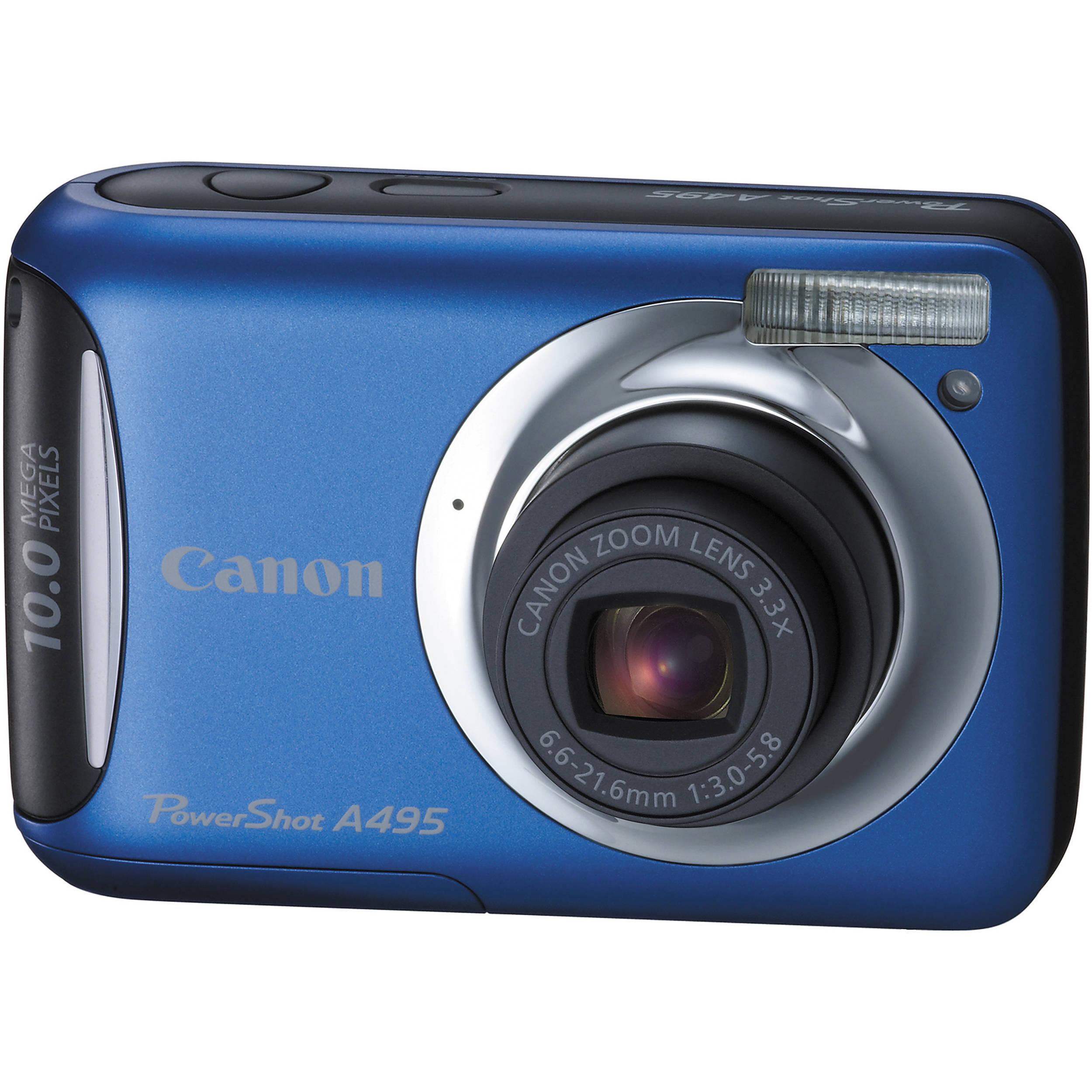 canon powershot a495 digital camera blue 4260b001 b h photo rh bhphotovideo com Canon PowerShot Digital Camera Canon PowerShot G12