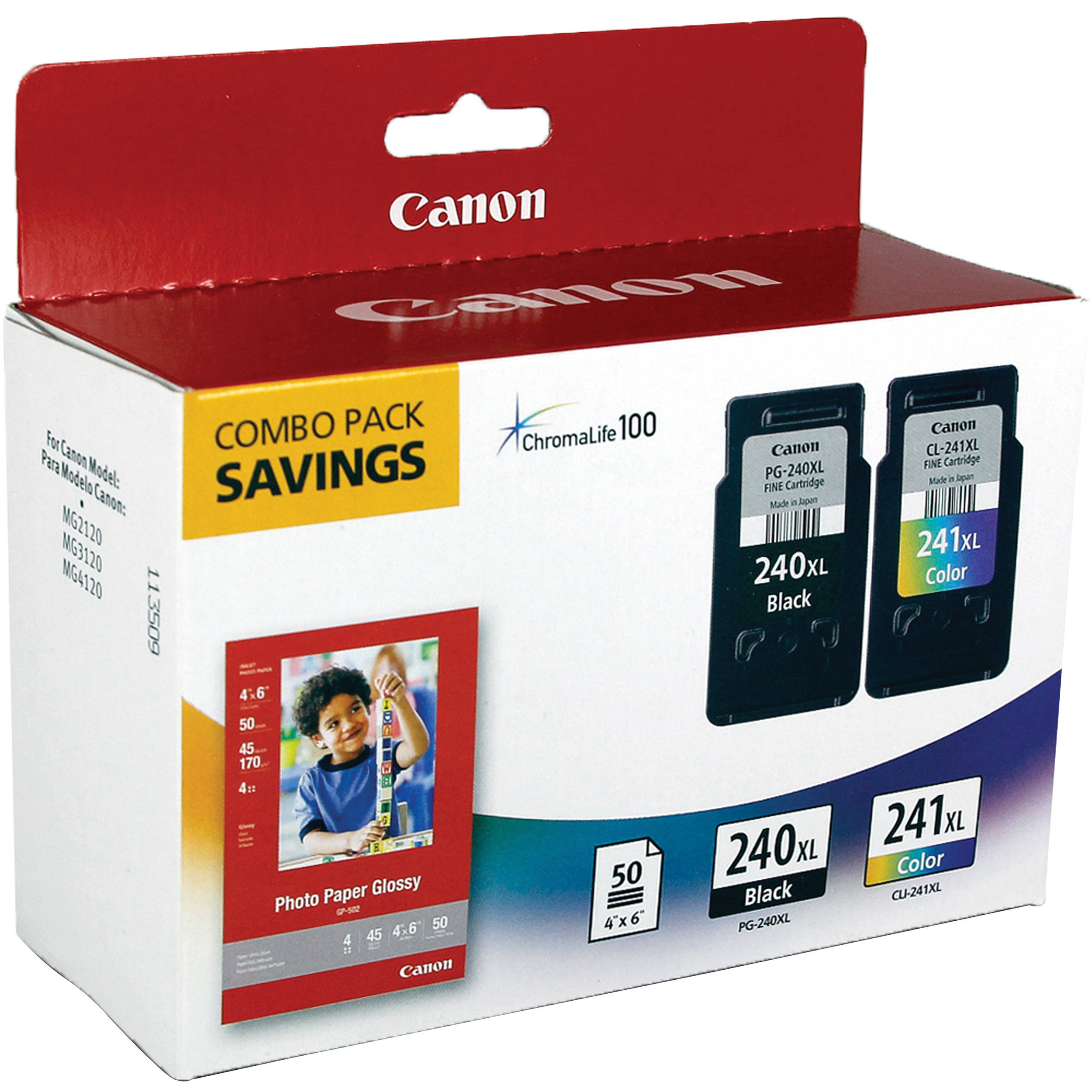 Canon PG-240XL / CL-241XL Ink Cartridge Combo Pack ...