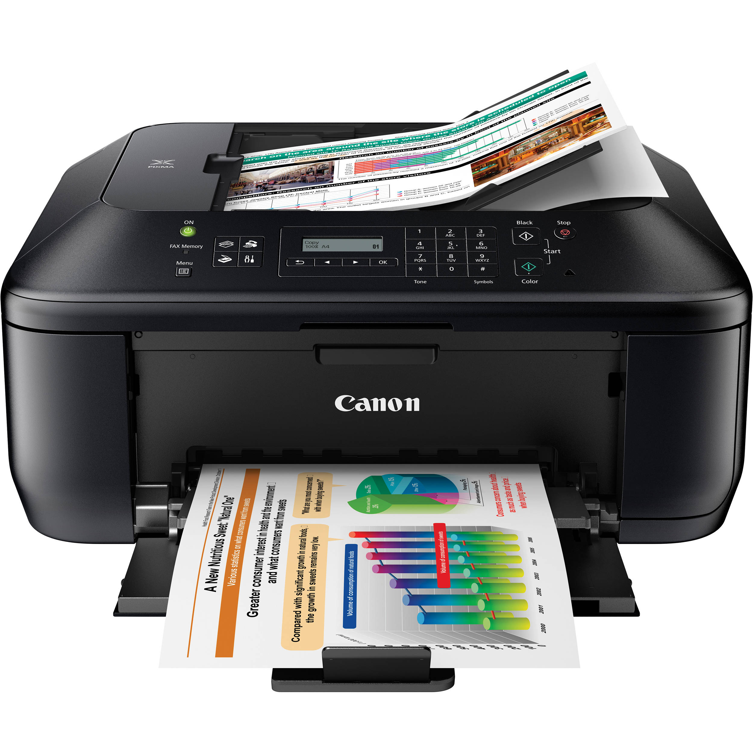 canon pixma mx372 all in one color inkjet office printer. Black Bedroom Furniture Sets. Home Design Ideas