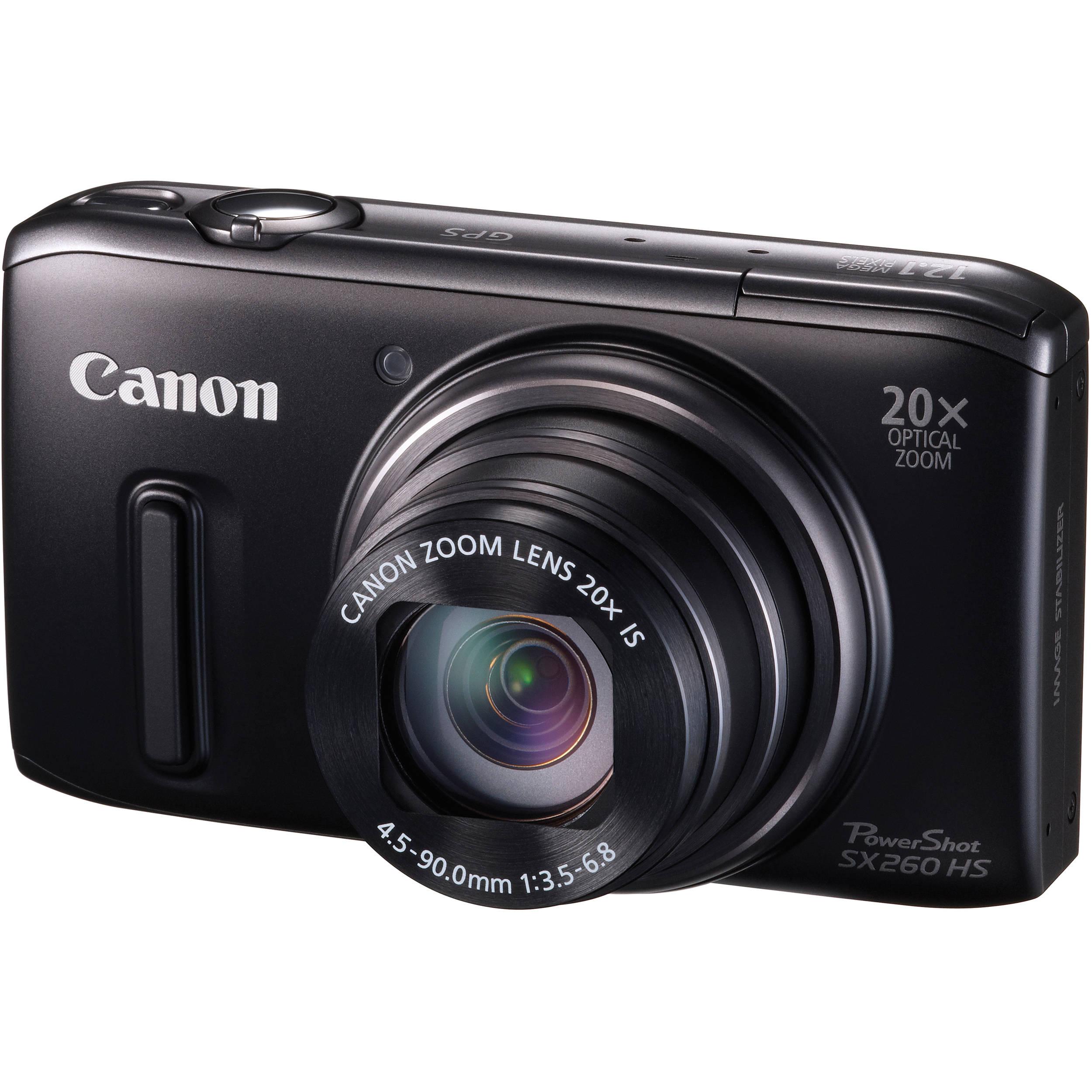Canon PowerShot SX260 HS Digital Camera (Black) 5900B001 B&H