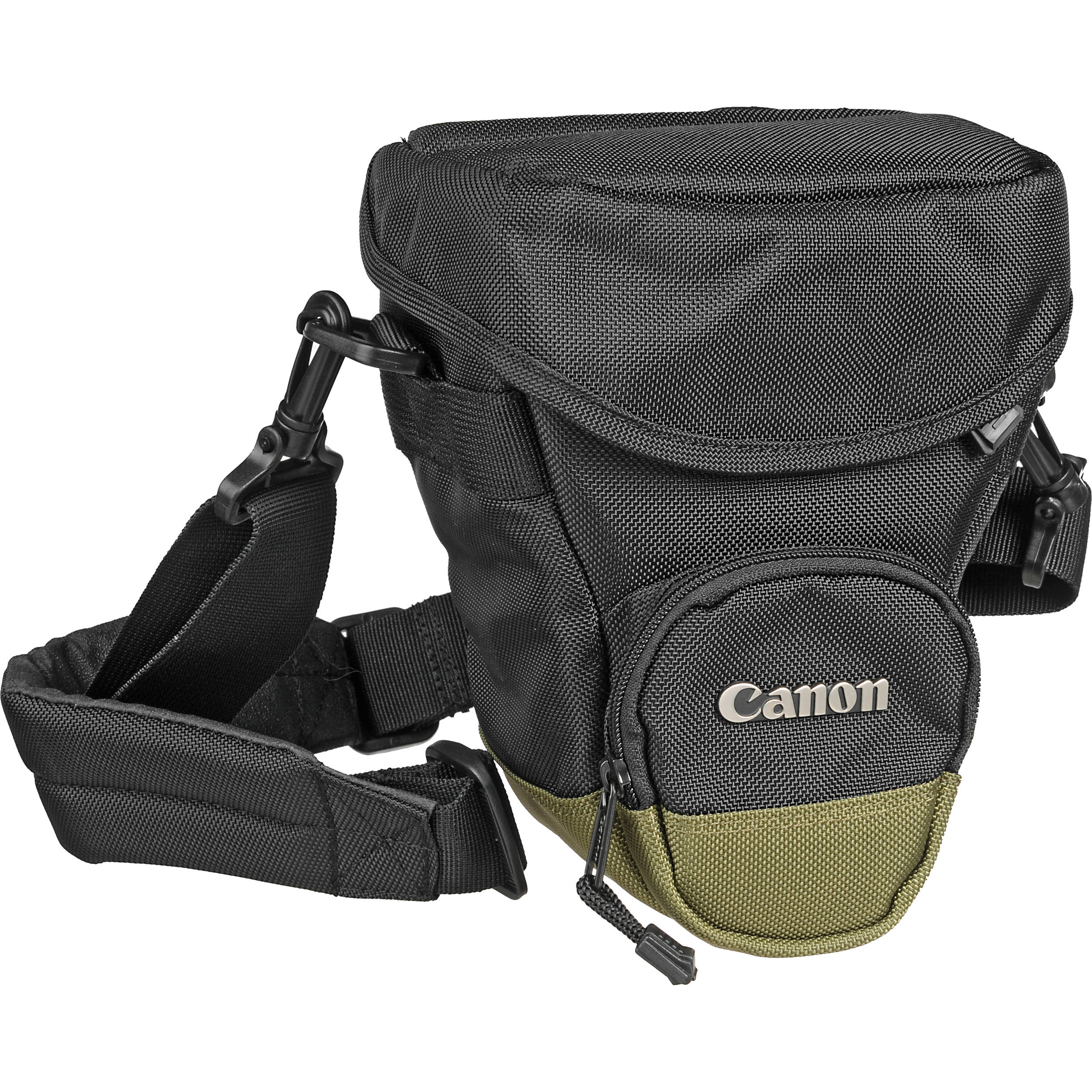 Canon Zoom Pack 1000 Holster Style Bag Black Olive Green Trim