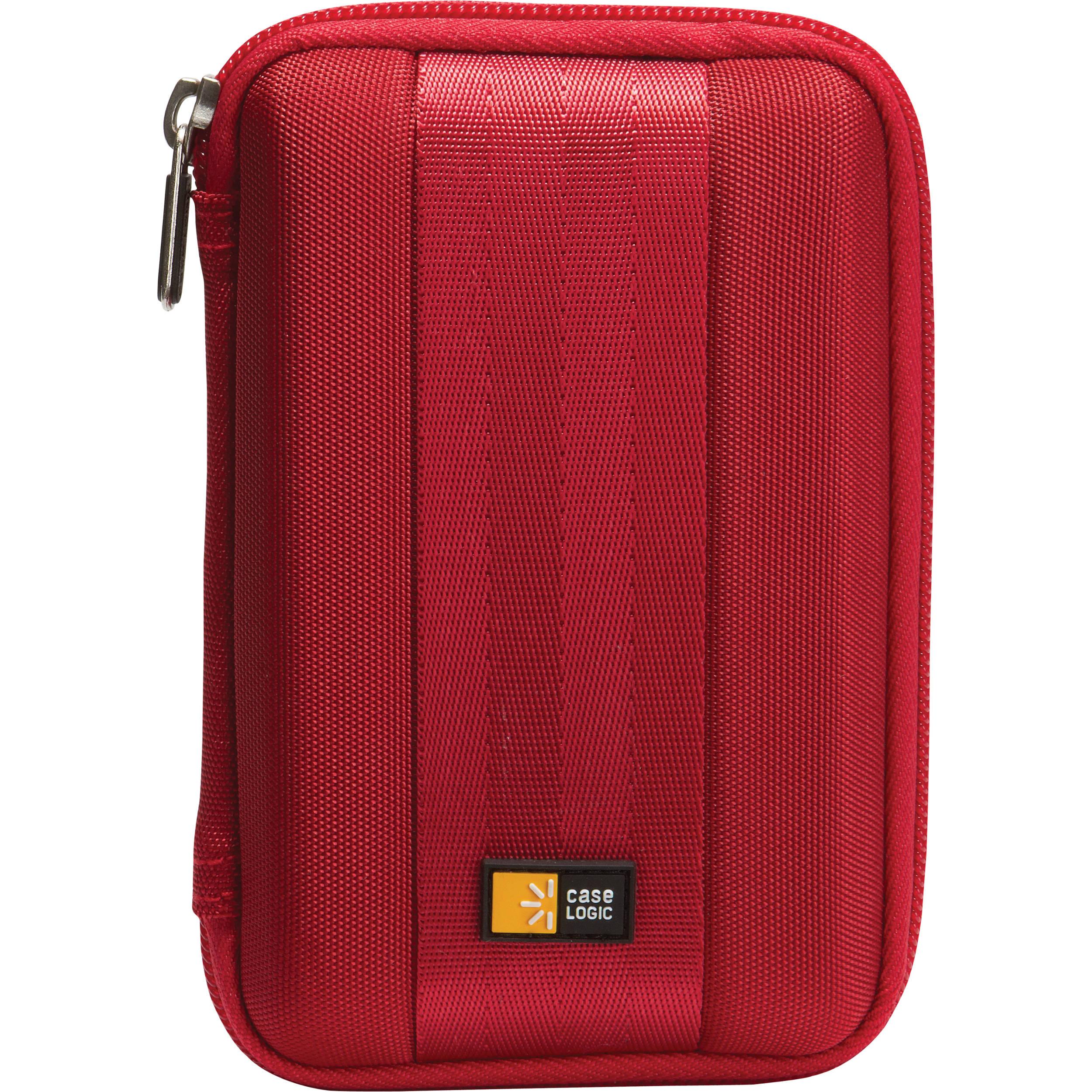 Case logic qhdc 101 portable hard drive case red qhdc 101 r for Housse case logic