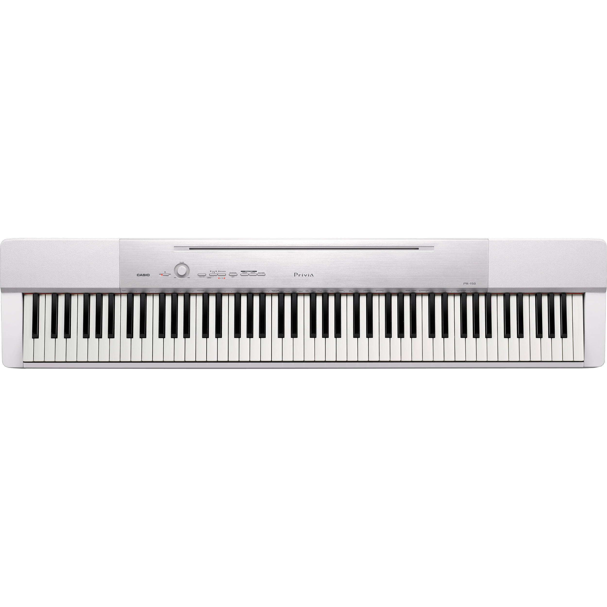 casio px 150 privia 88 key digital piano white px 150we b h. Black Bedroom Furniture Sets. Home Design Ideas
