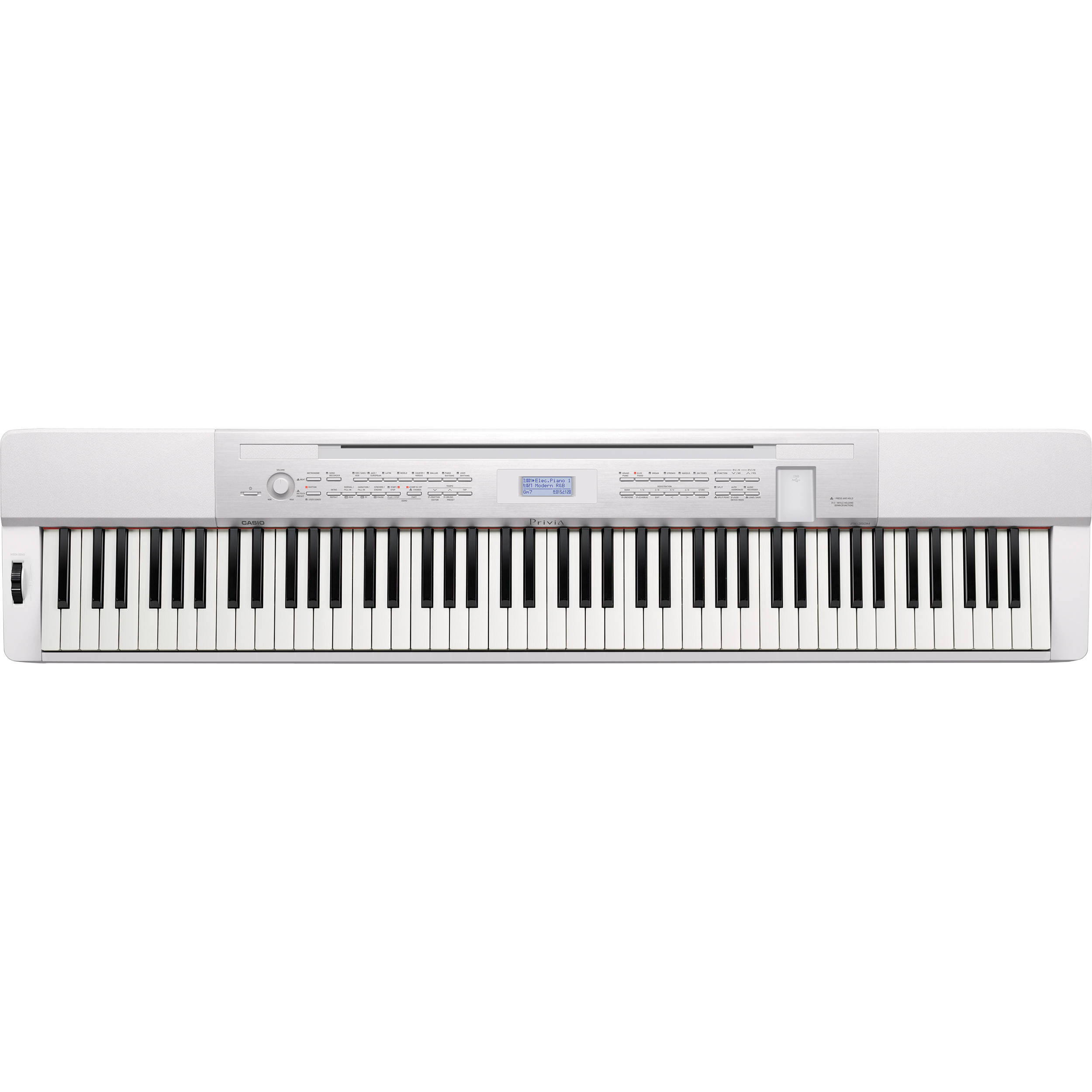 casio px 350 privia 88 key digital piano white px 350we b h. Black Bedroom Furniture Sets. Home Design Ideas