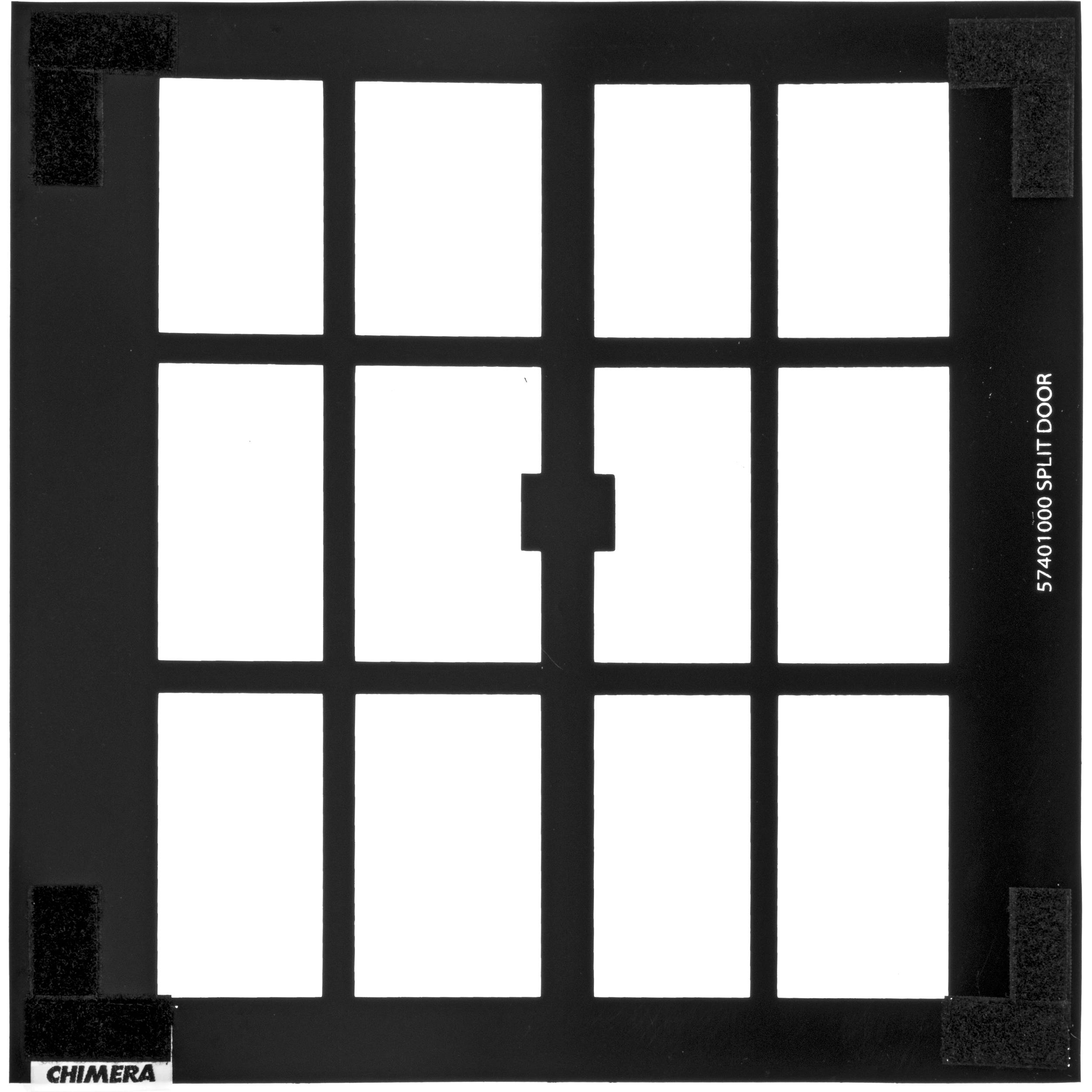 Chimera window pattern for 24x24 frame