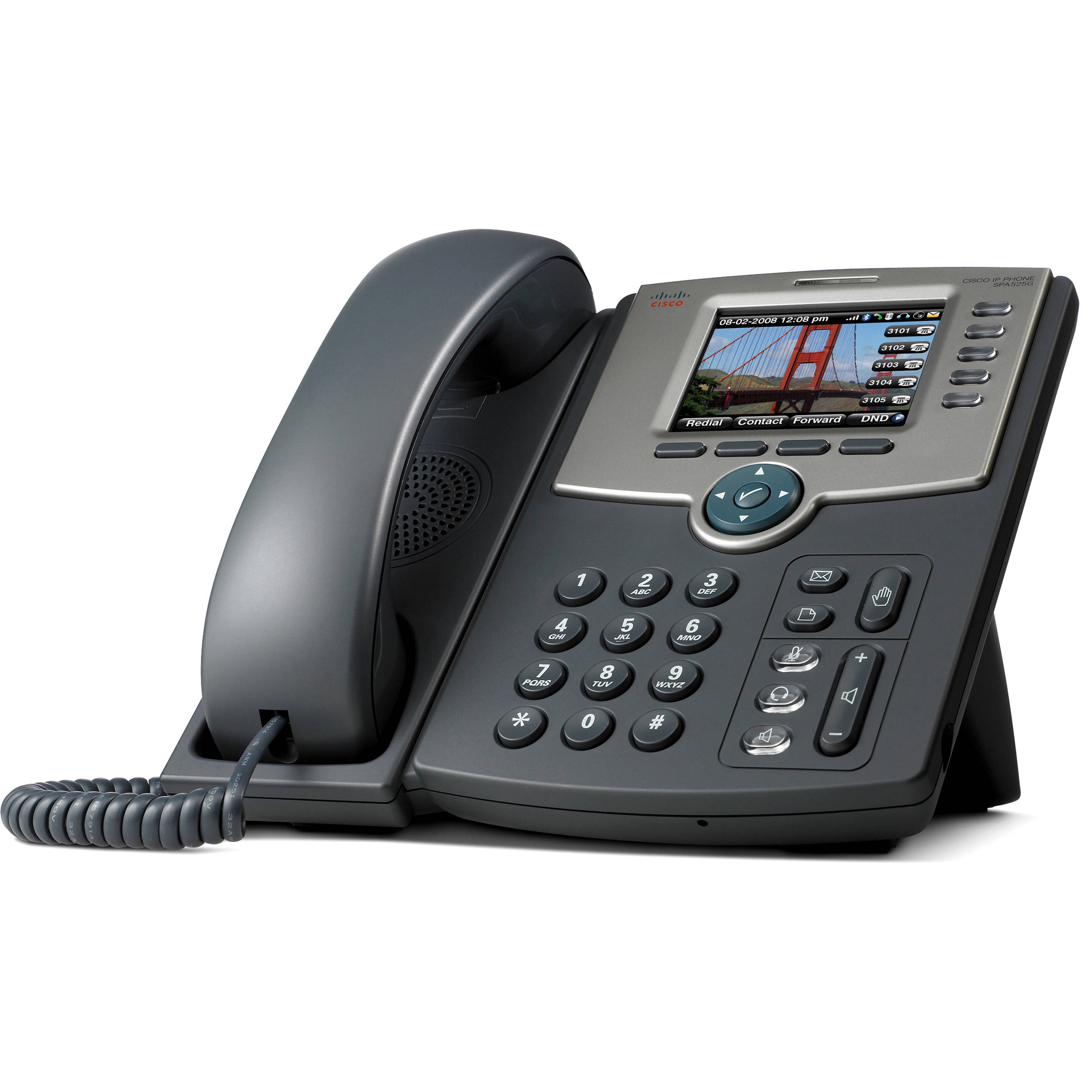 Cisco SPA525G2 5-Line IP Phone with Color Display SPA525G2 B&H