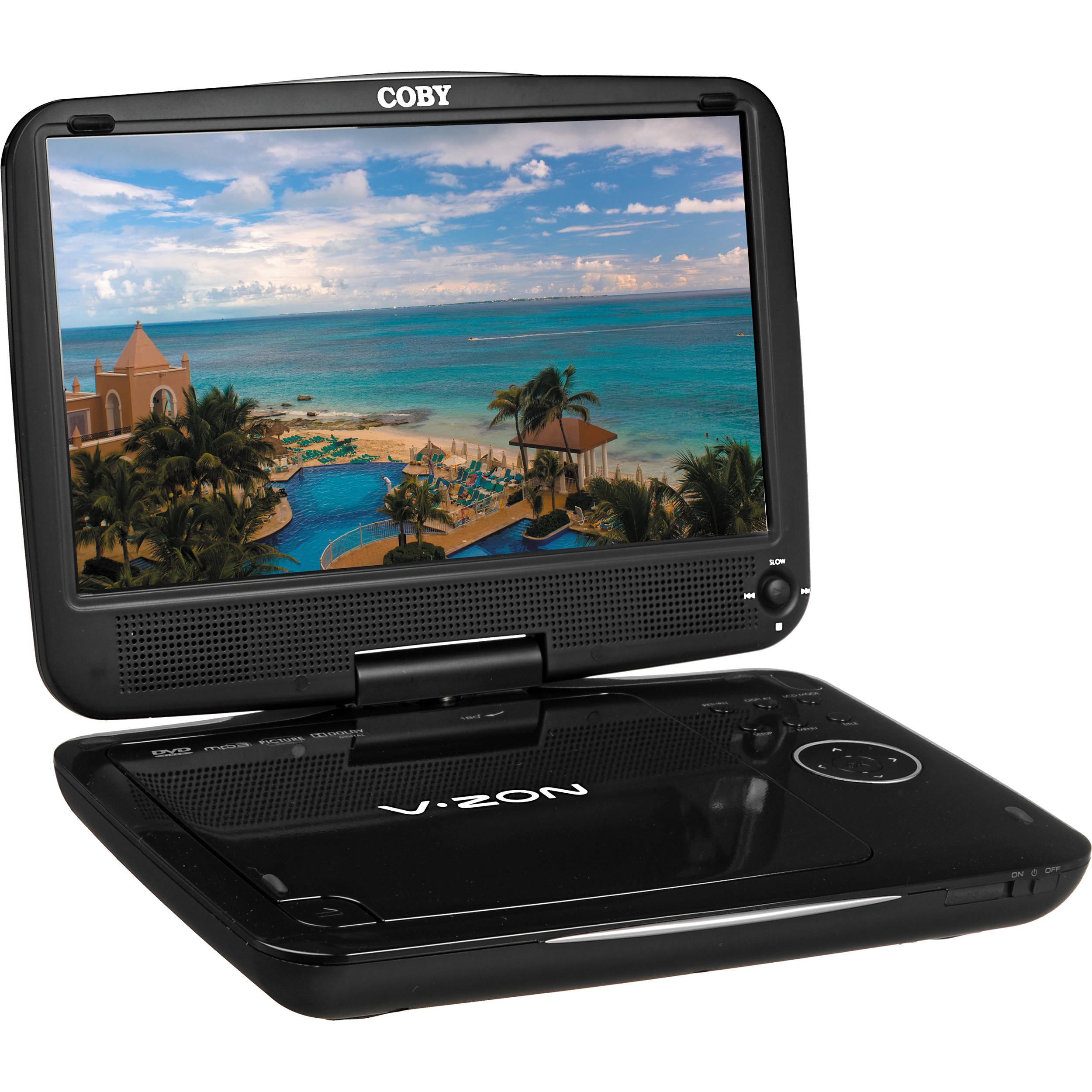 coby tfdvd9109 portable dvd player tfdvd9109 b h photo video. Black Bedroom Furniture Sets. Home Design Ideas