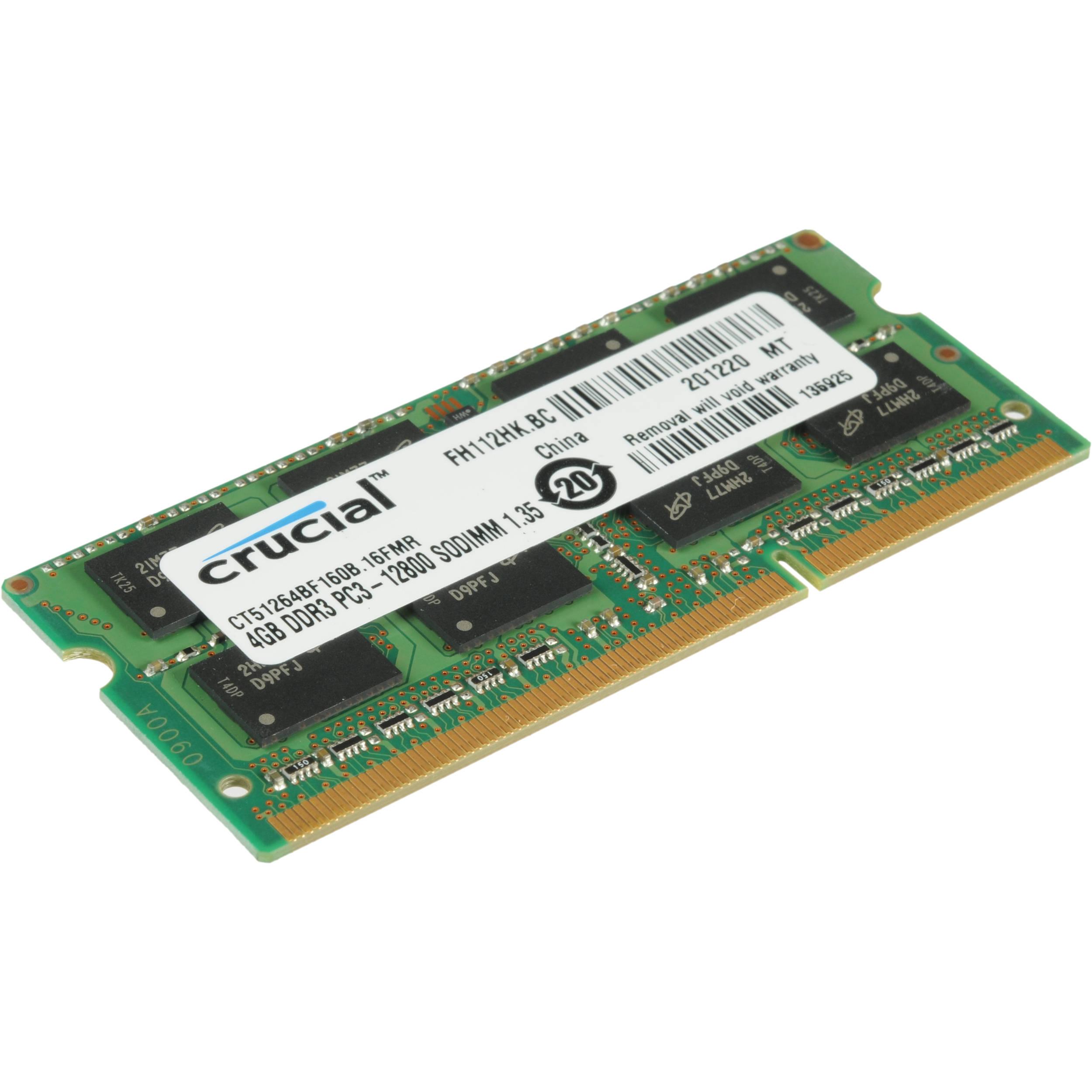 Crucial 8GB DDR3L 1600 MHz SODIMM Memory Module CT102464BF160B