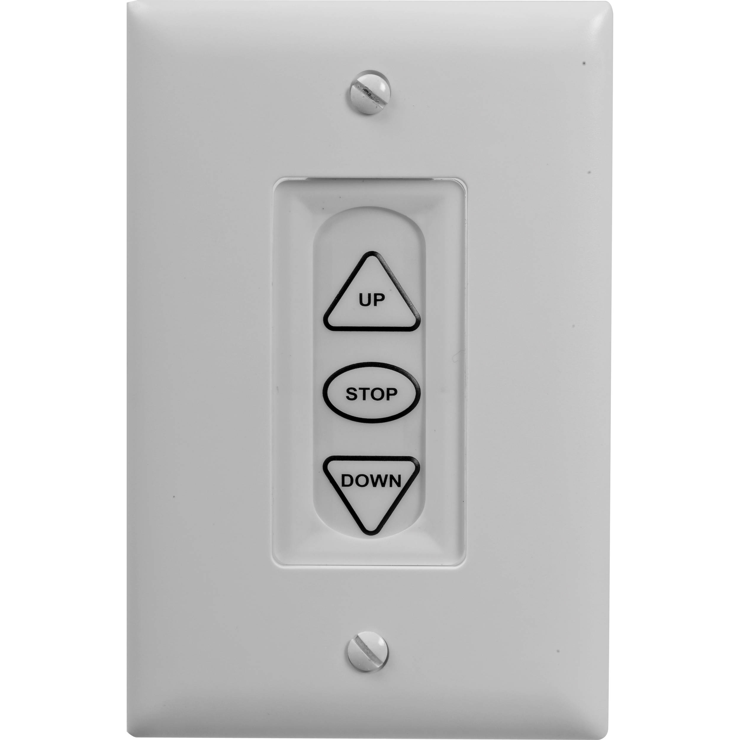 Da-Lite Three-Button Low Voltage Control Switch (White) 40975