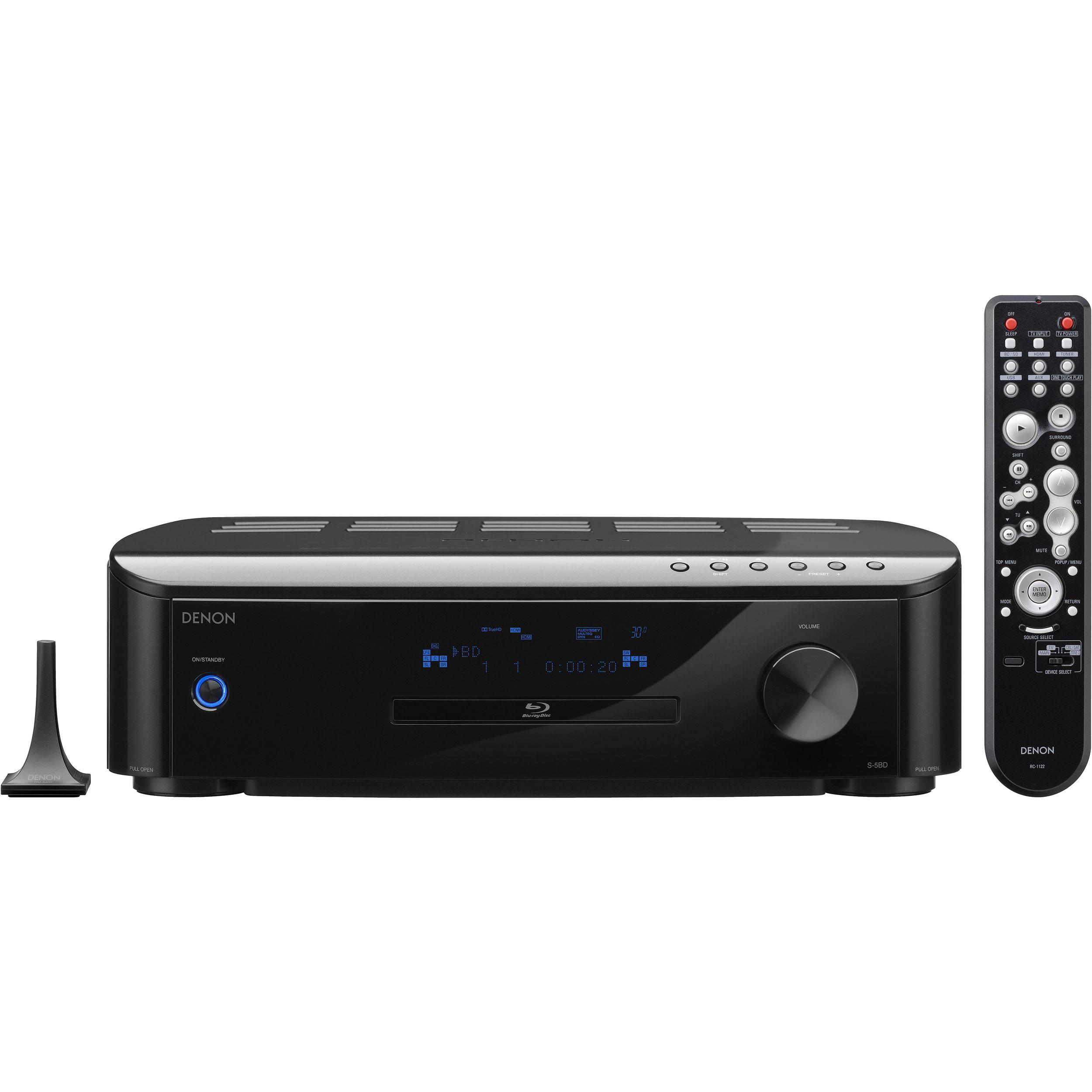 denon s 5bd integrated 5 1 av receiver blu ray dvd s 5bd. Black Bedroom Furniture Sets. Home Design Ideas