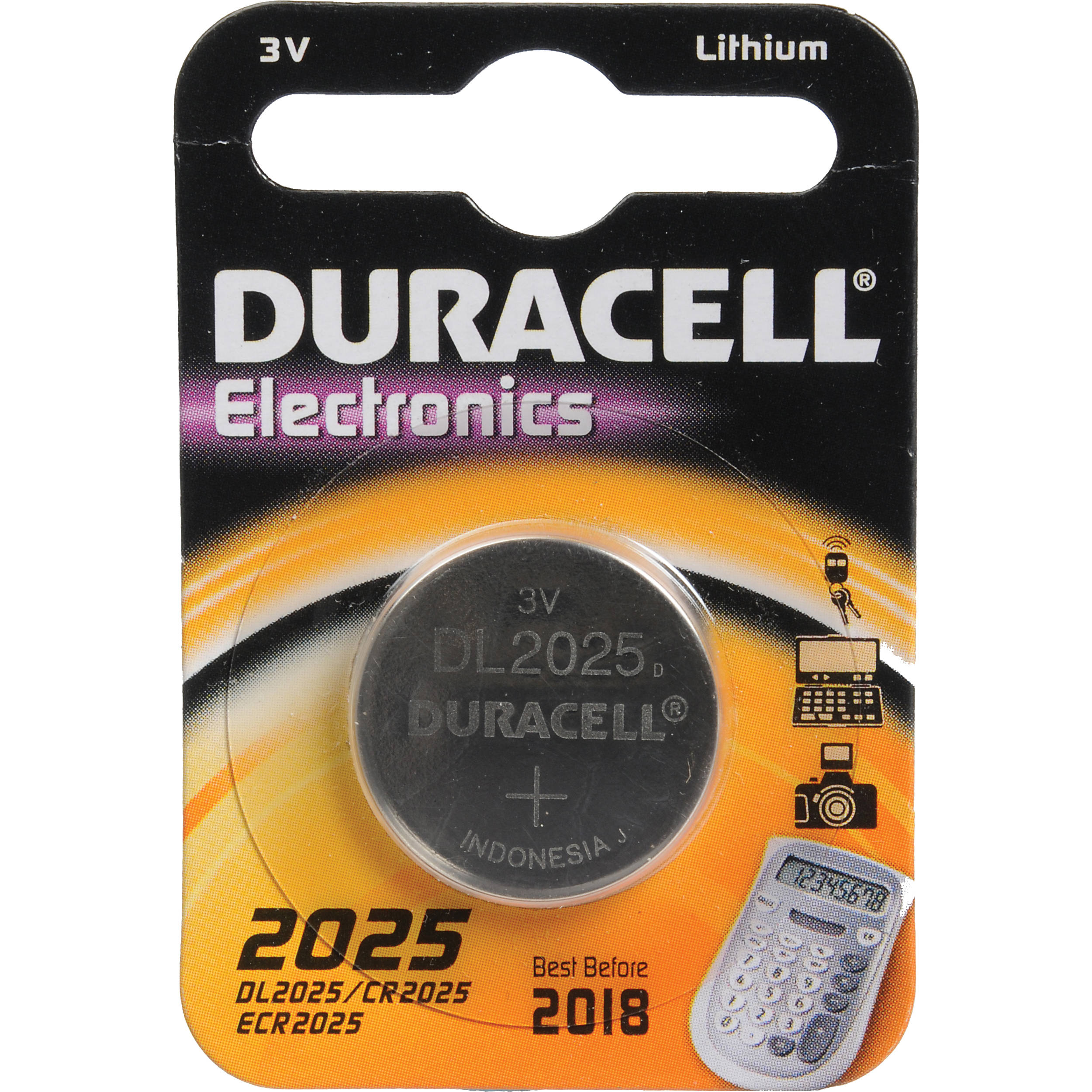 duracell cr2025 3v lithium battery 160mah dl2025b b h photo. Black Bedroom Furniture Sets. Home Design Ideas