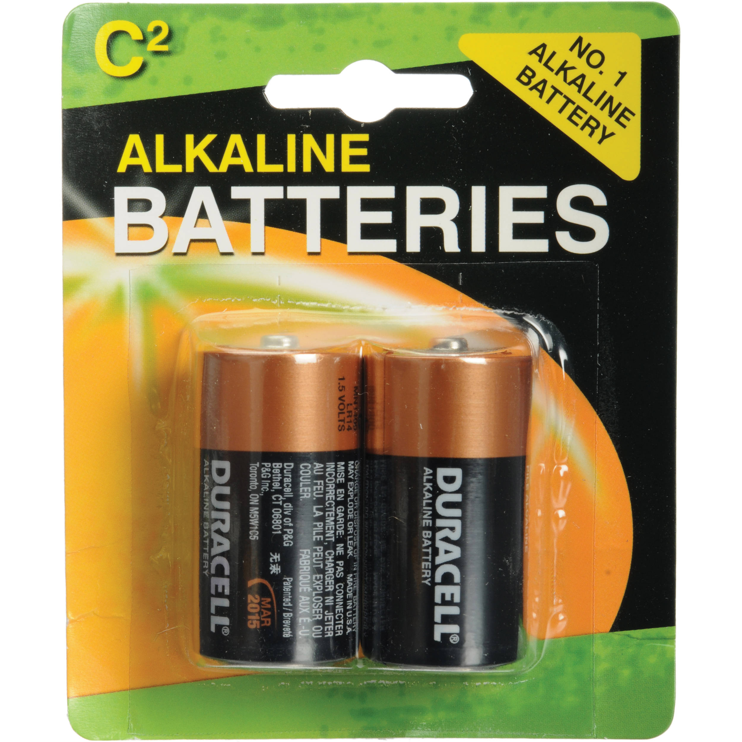 duracell c alkaline coppertop battery 1 5v 2 pack mn1400b2. Black Bedroom Furniture Sets. Home Design Ideas