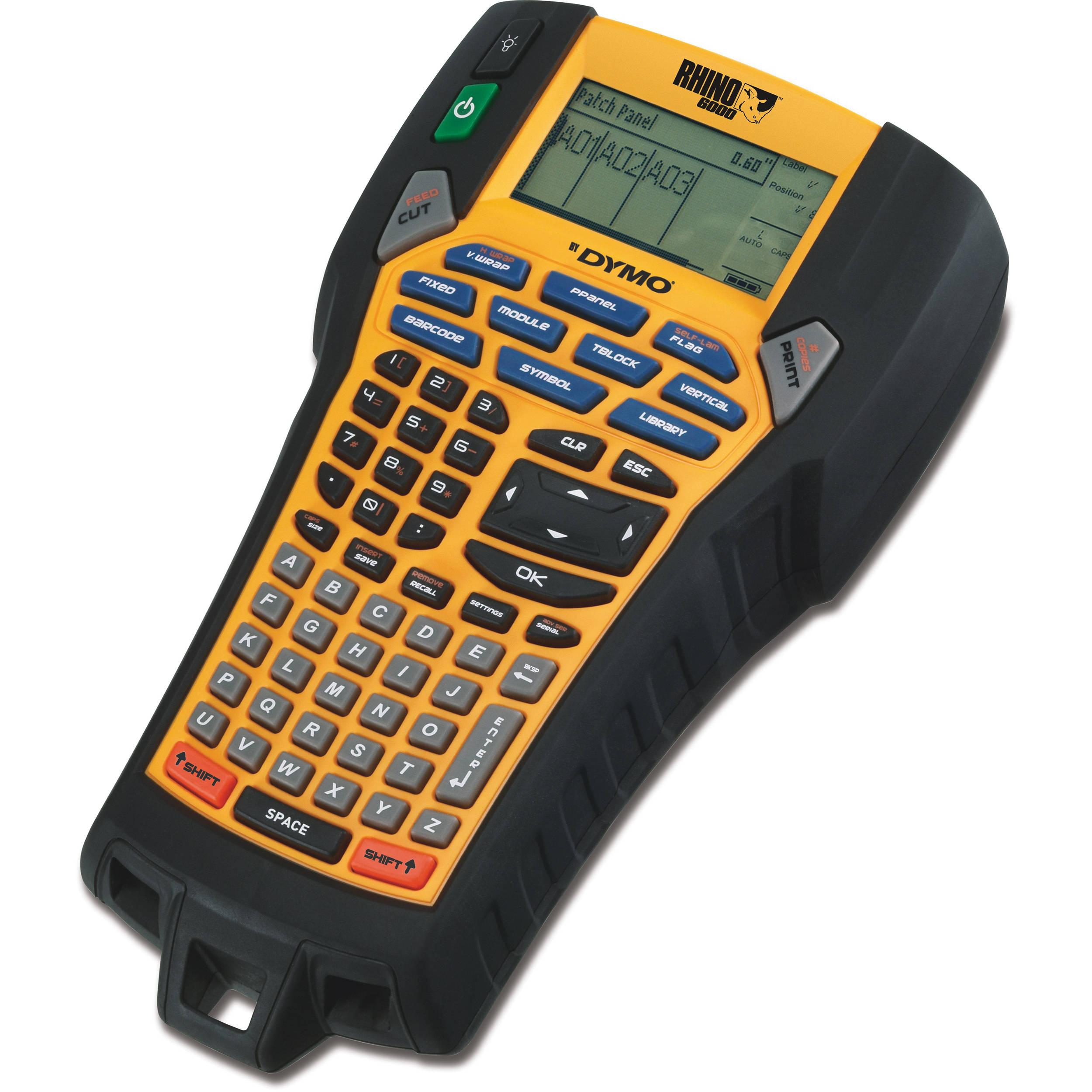 Dymo Rhino 6000 Professional Labeling Tool 1734519 B Amp H Photo