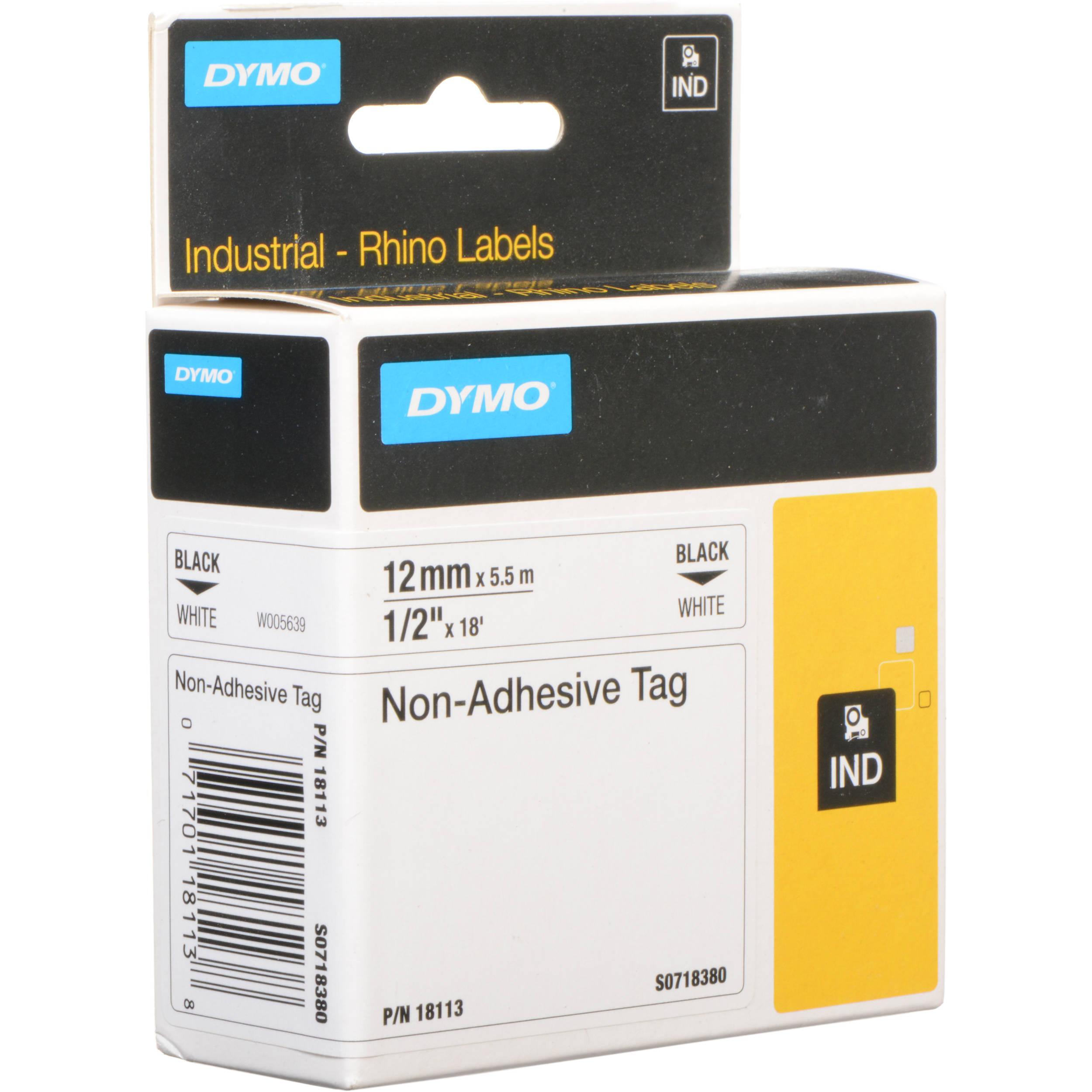 Dymo White Rhino Non Adhesive Tag 1 2