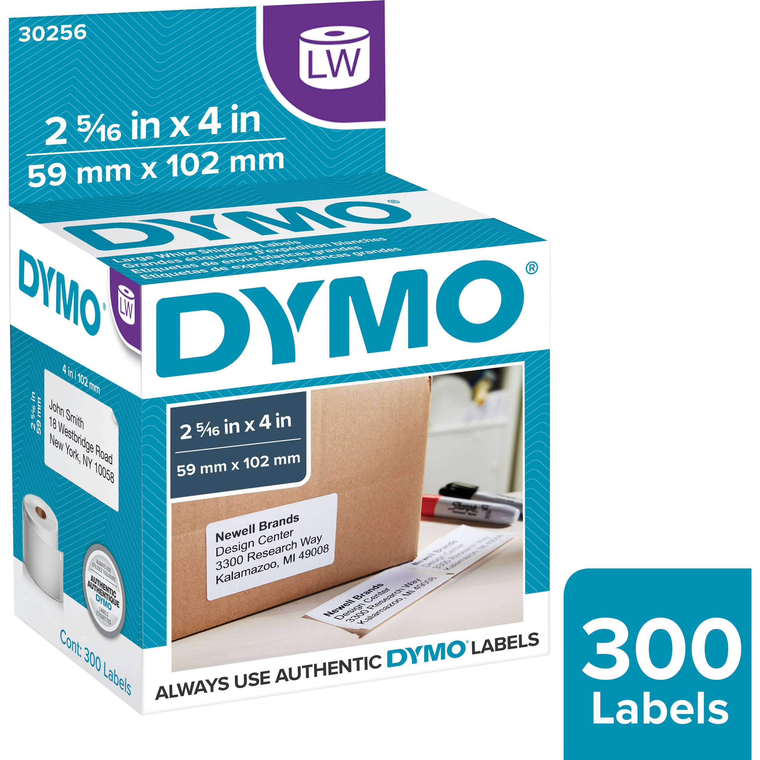 It's just a photo of Massif Dymo Labels 2 5 16 X 4