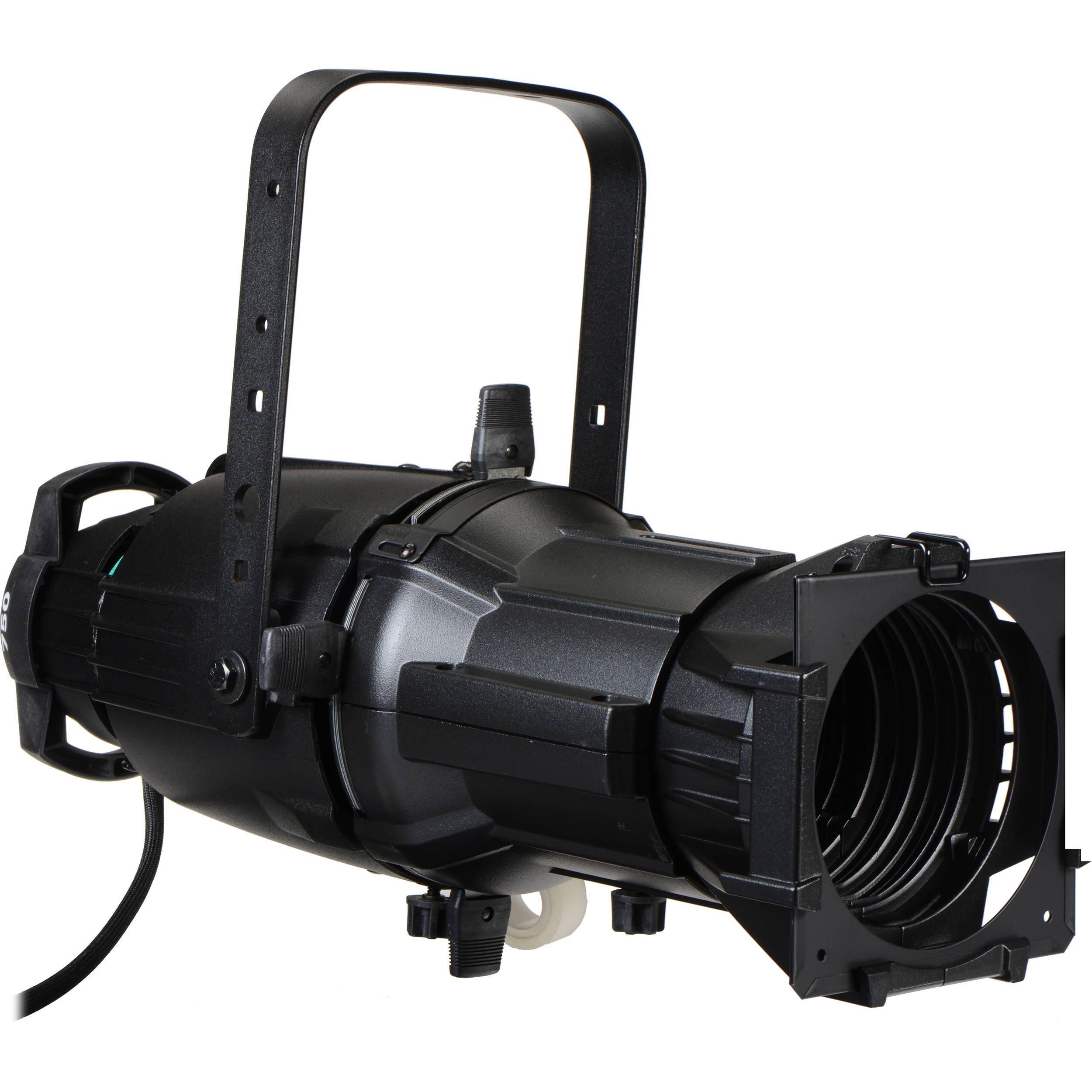 Etc source 4 750 watt ellipsoidal spotlight black edison plug 50 degrees 115 240v ac