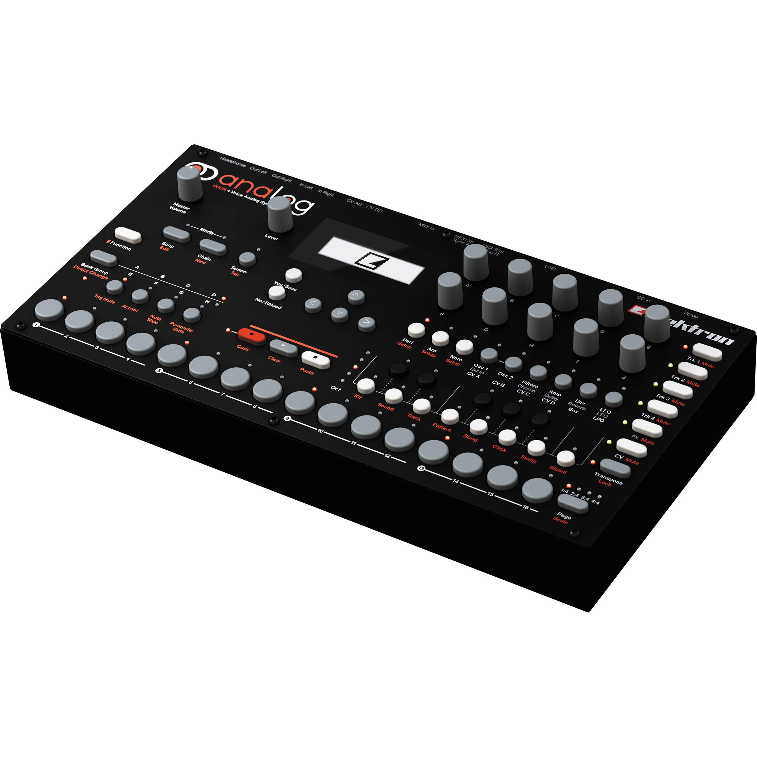 elektron analog four tabletop analog synthesizer analog four. Black Bedroom Furniture Sets. Home Design Ideas