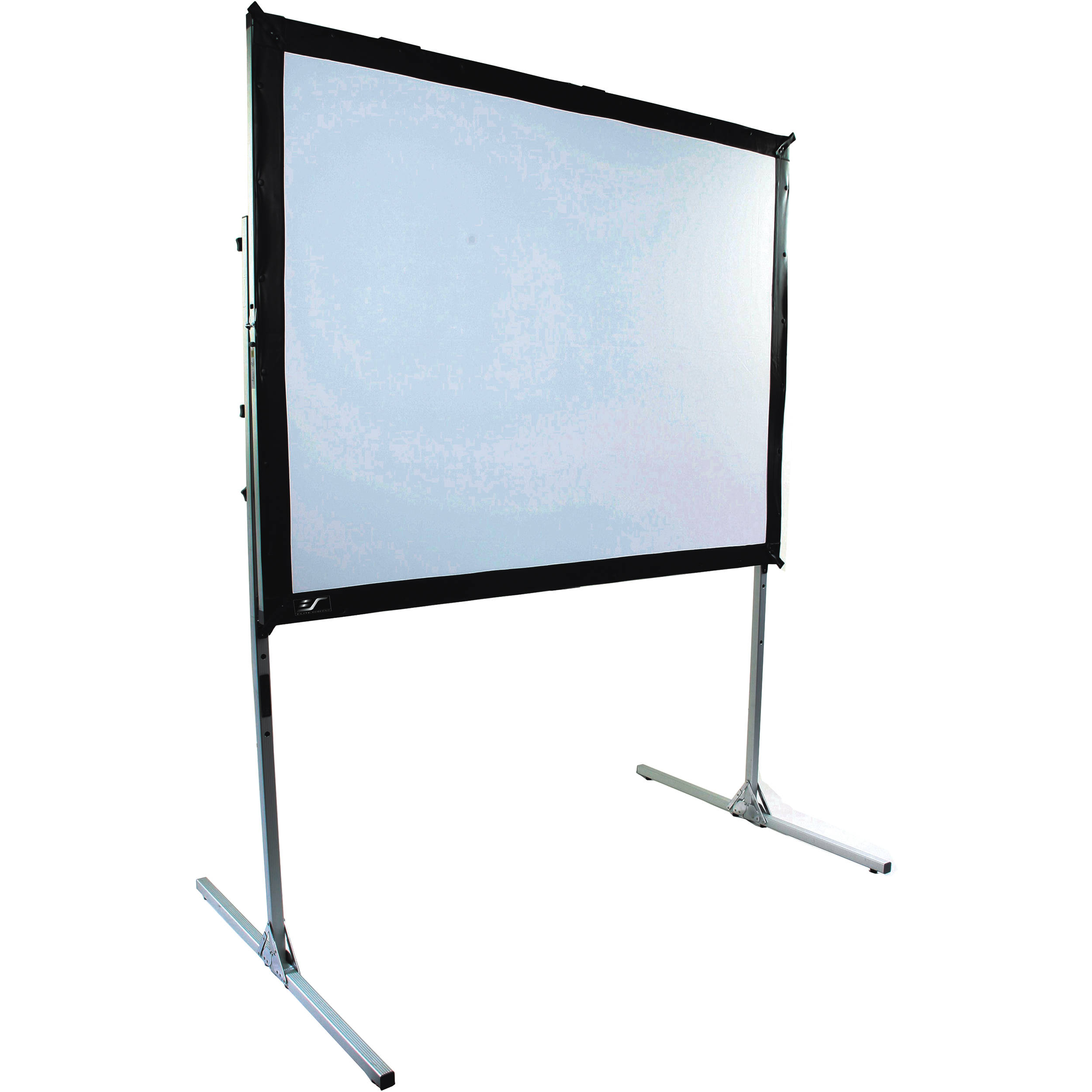 Portable L Screen : Elite screens tensioned video quick stand portable fixed