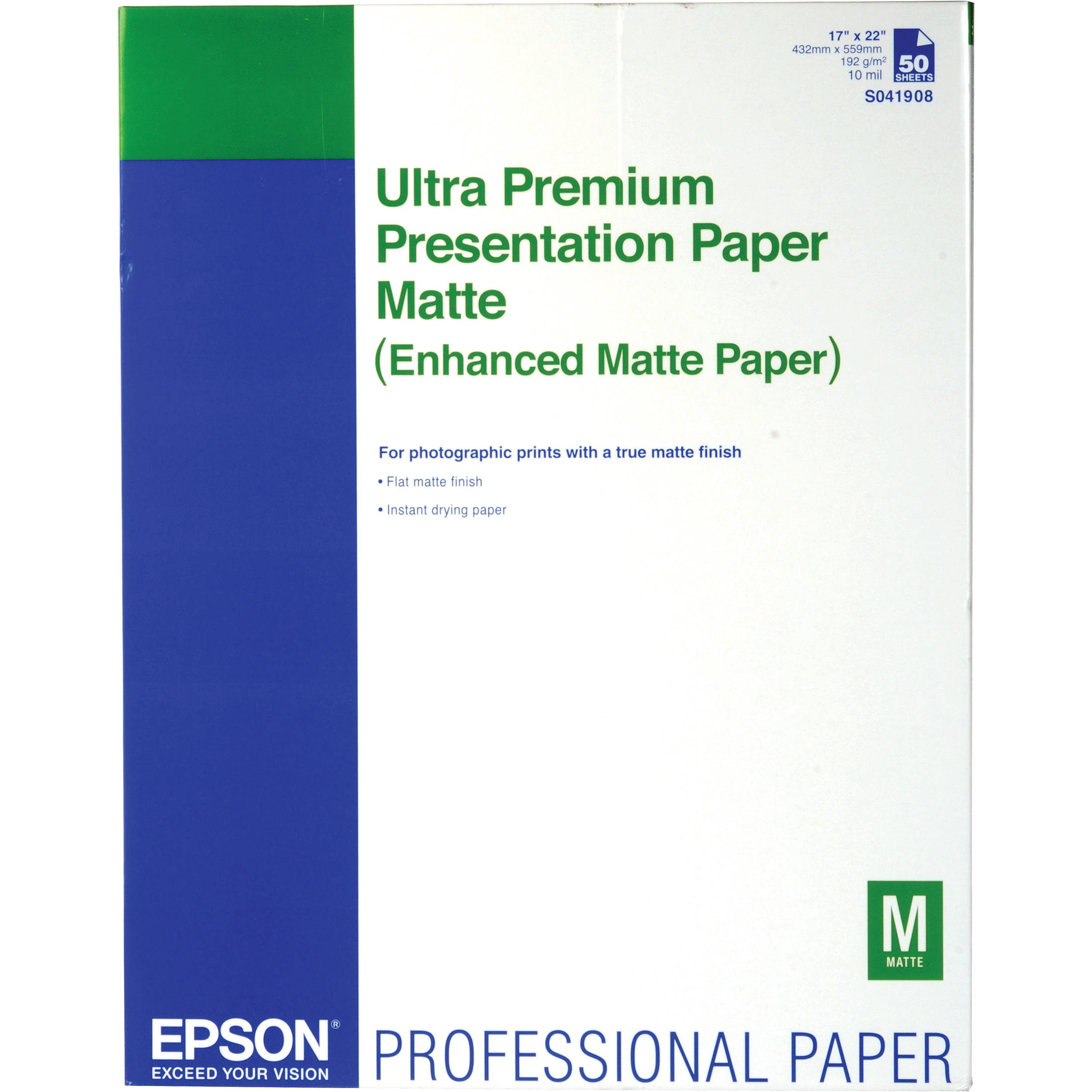 epson matte paper See pricing info, deals and product reviews for epson® presentation paper, matte finish at quillcom order online today and get fast, free shipping for your business.