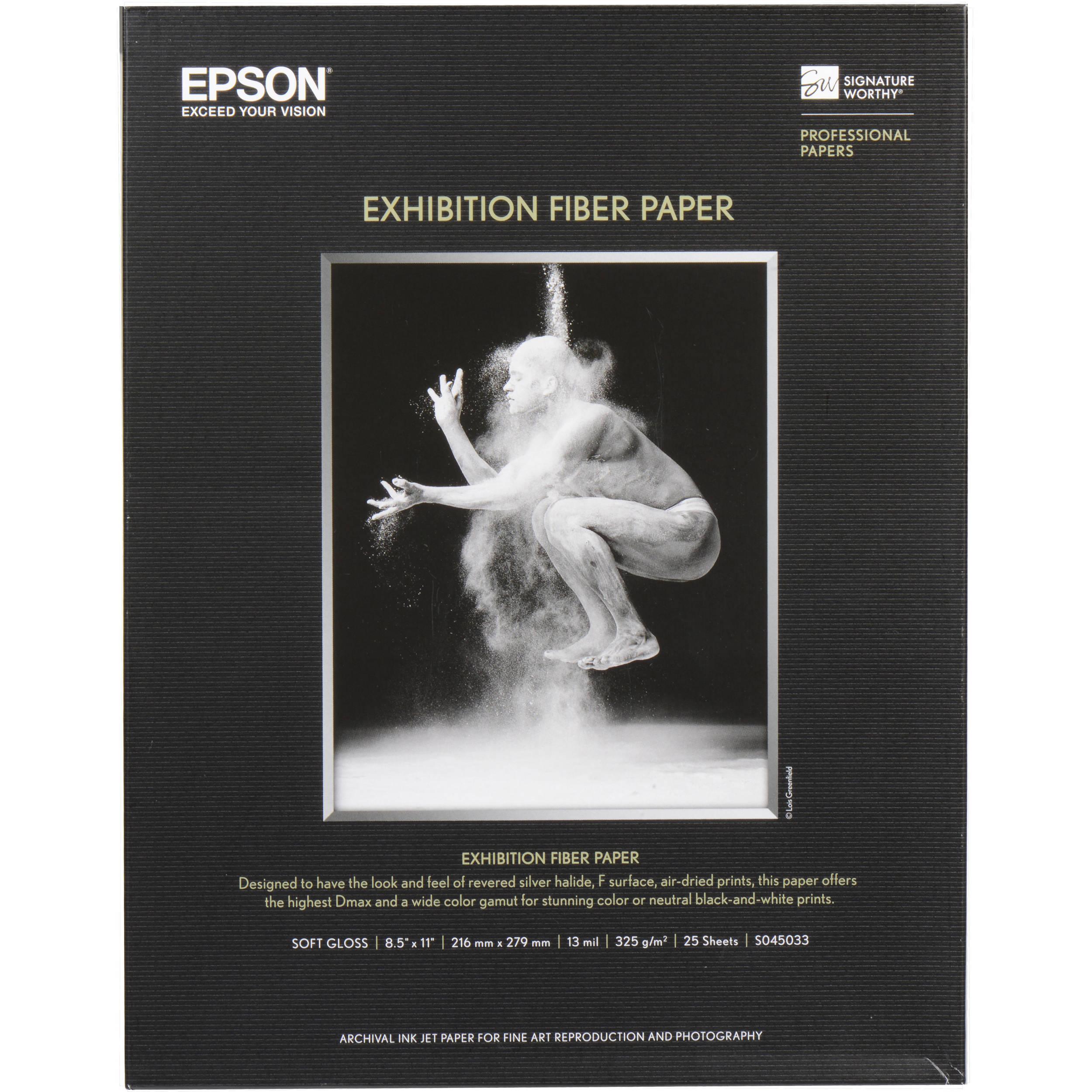 Epson Exhibition Fiber Paper 85 X 11 25 Sheets