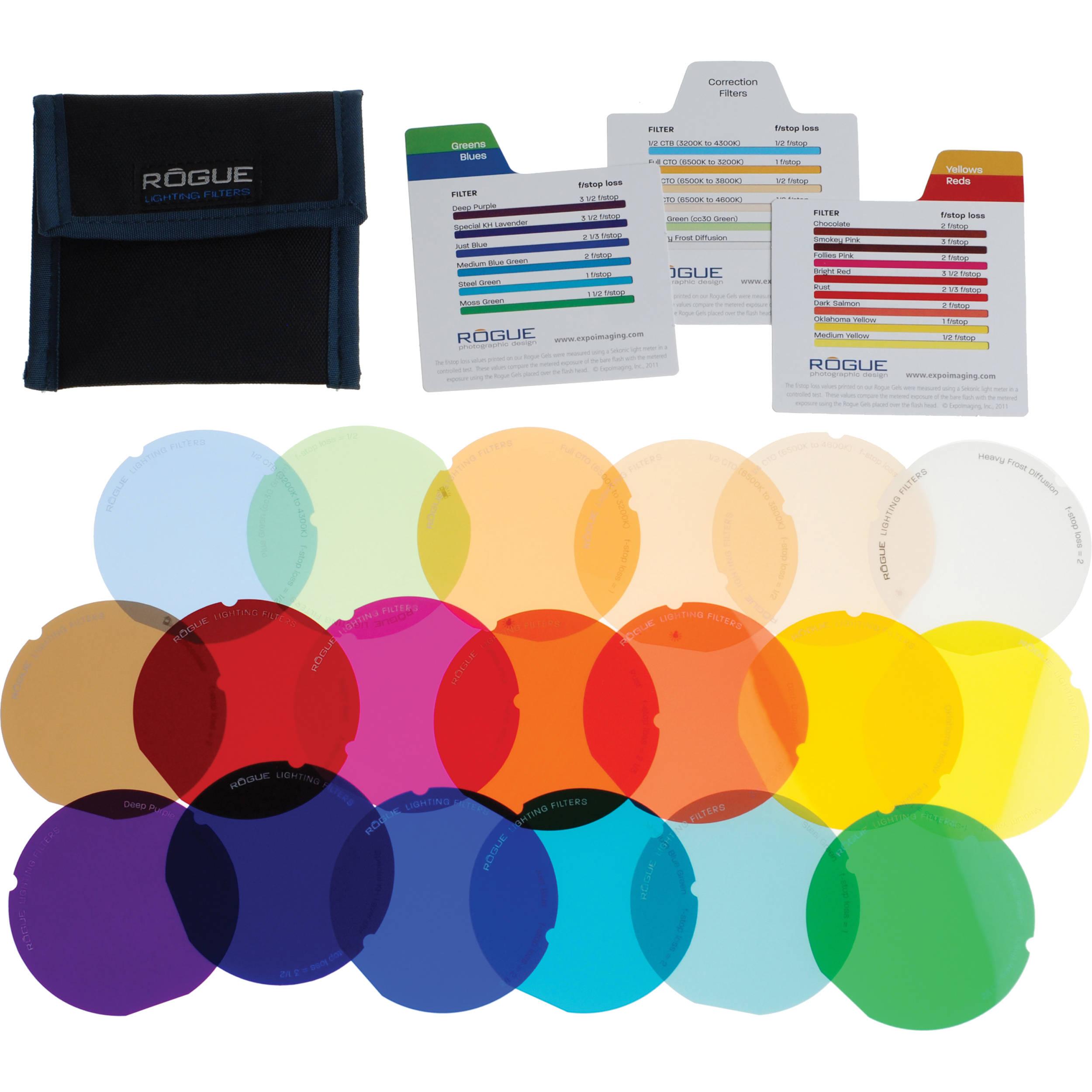 expoimaging rogue gels lighting filter kit for rogue roguegels g