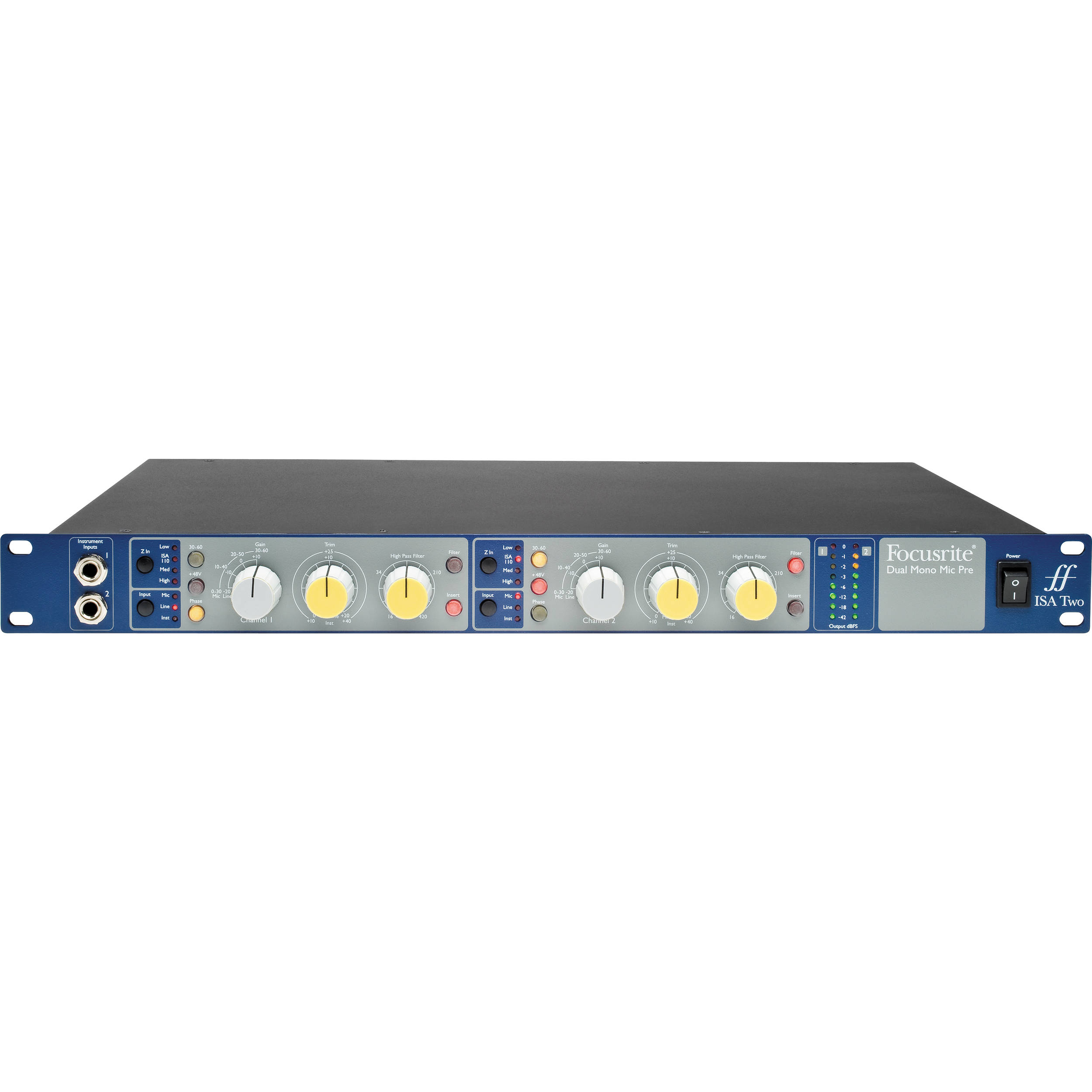 Focusrite Isa Two Microphone Preamp 2 Bh Photo Video Amplifier Circuit Low Voltage Preamplifier