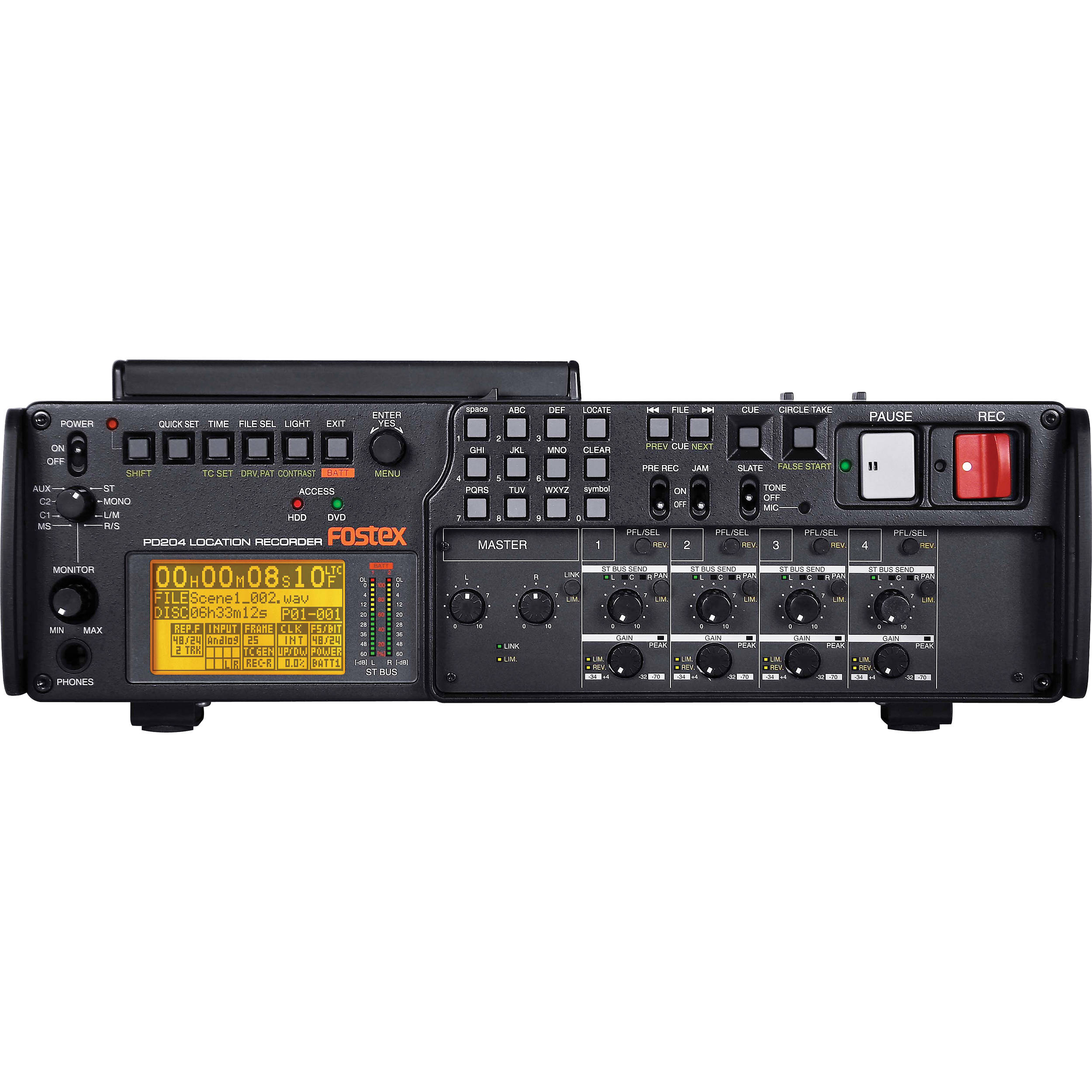 Fostex PD204 Professional DVD/HD Location Audio Recorder
