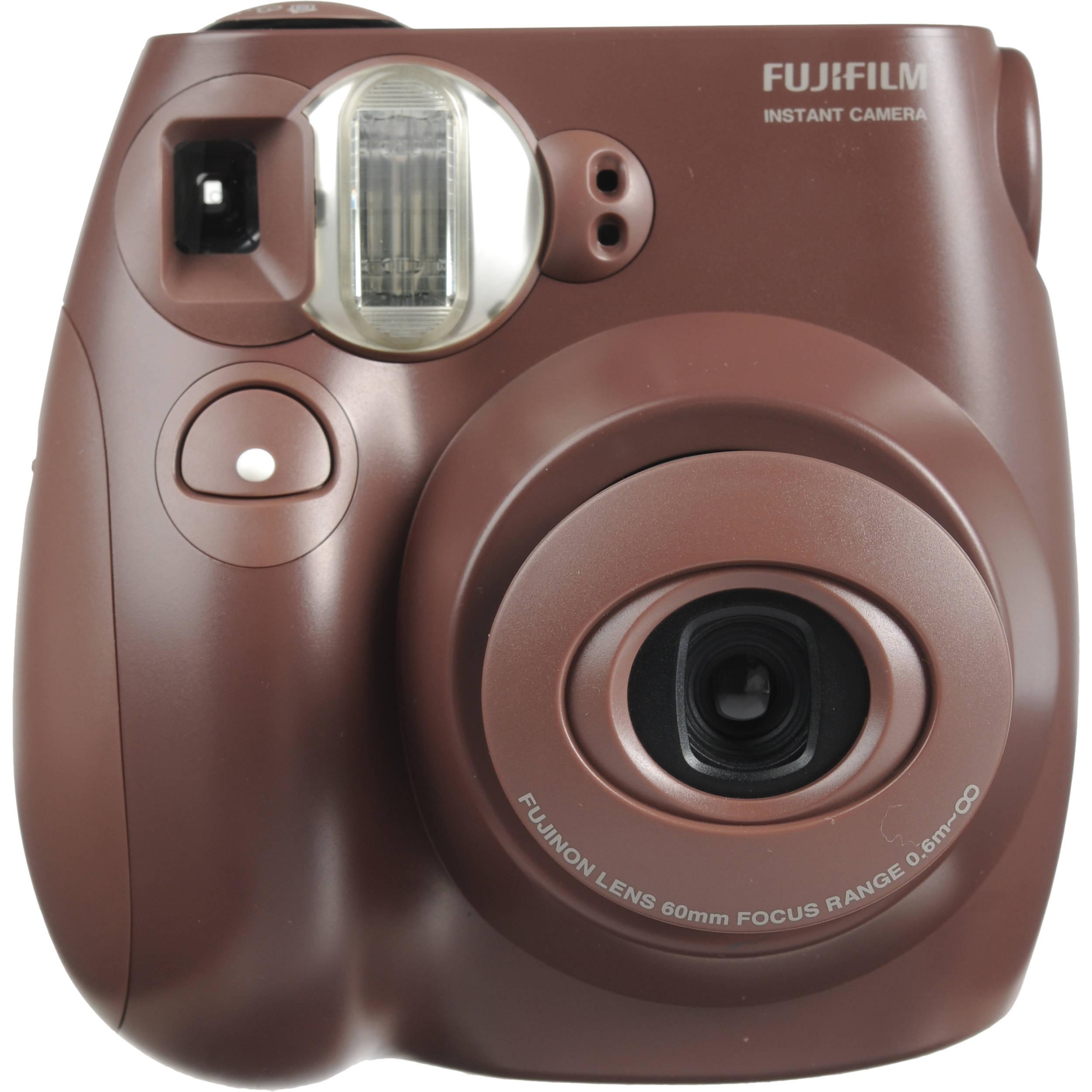 fujifilm instax mini 7s instant film camera choco fuim7scc b h. Black Bedroom Furniture Sets. Home Design Ideas