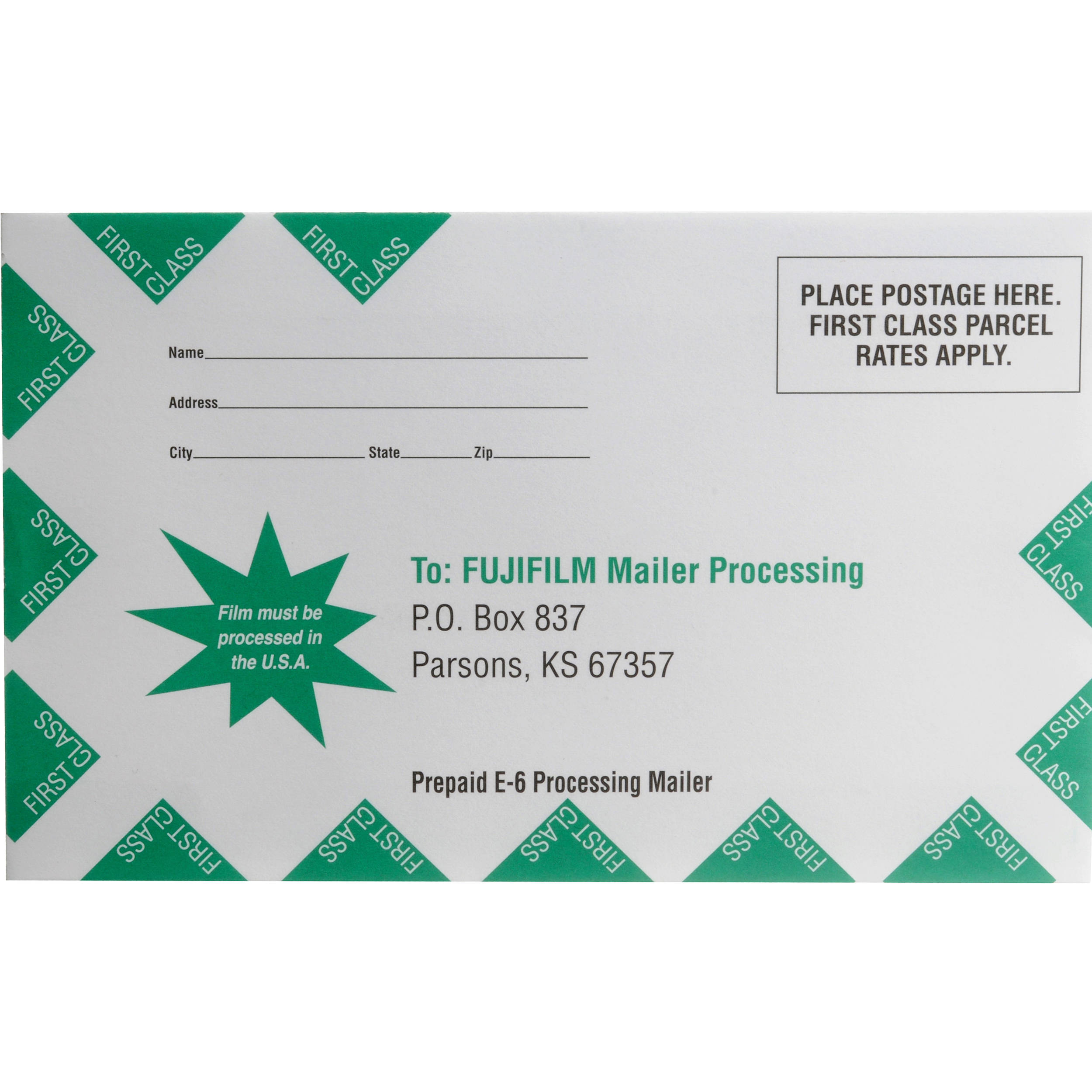 Fujifilm Slide Processing Mailer for One 35mm or 120 Roll of Film: www.bhphotovideo.com/c/product/18646-REG/Fujifilm_Slide_Processing...