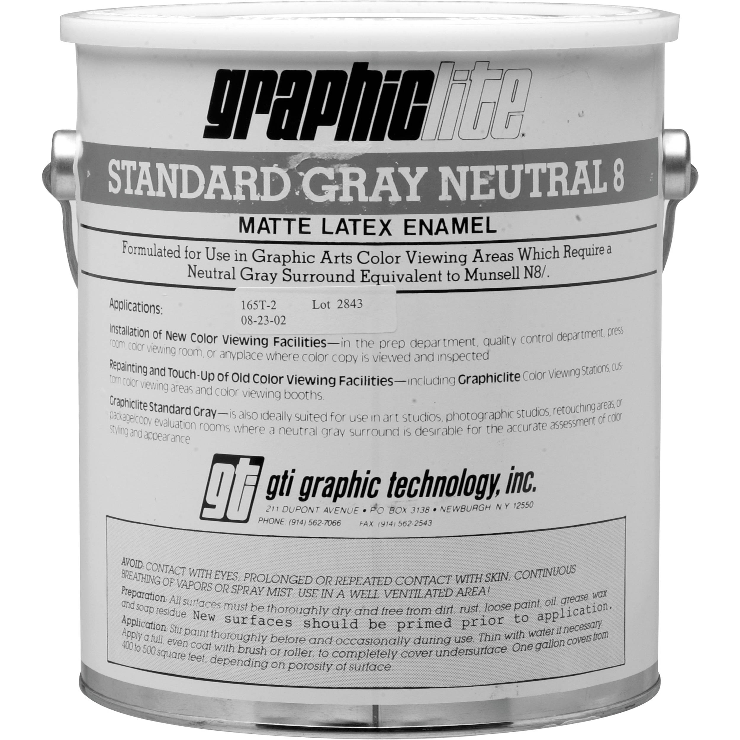 GTI Standard Gray Neutral N8 Vinyl Latex Paint (1 Gallon) N8/G