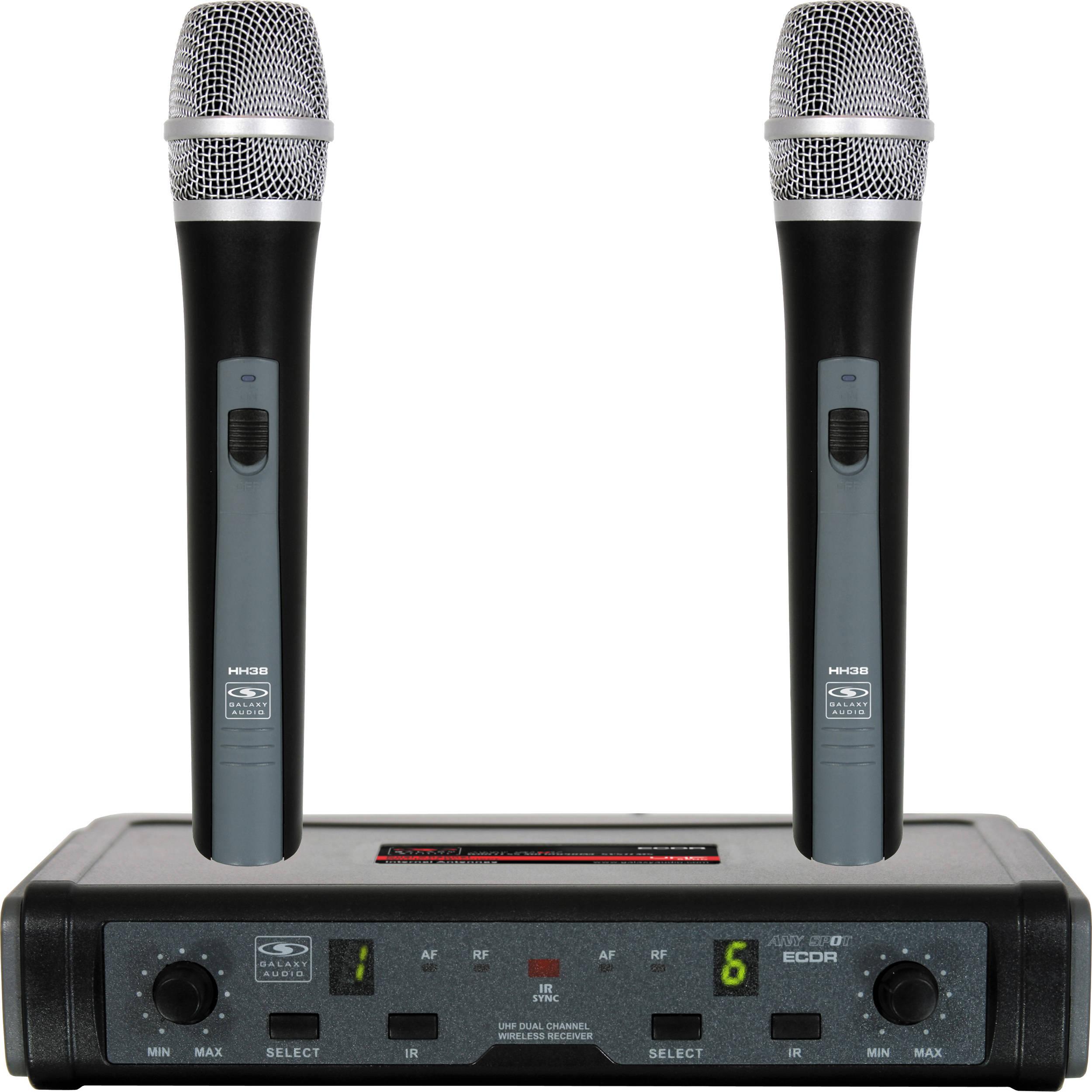 galaxy audio ecd wireless microphone system ecdr 2hh38 d b h. Black Bedroom Furniture Sets. Home Design Ideas