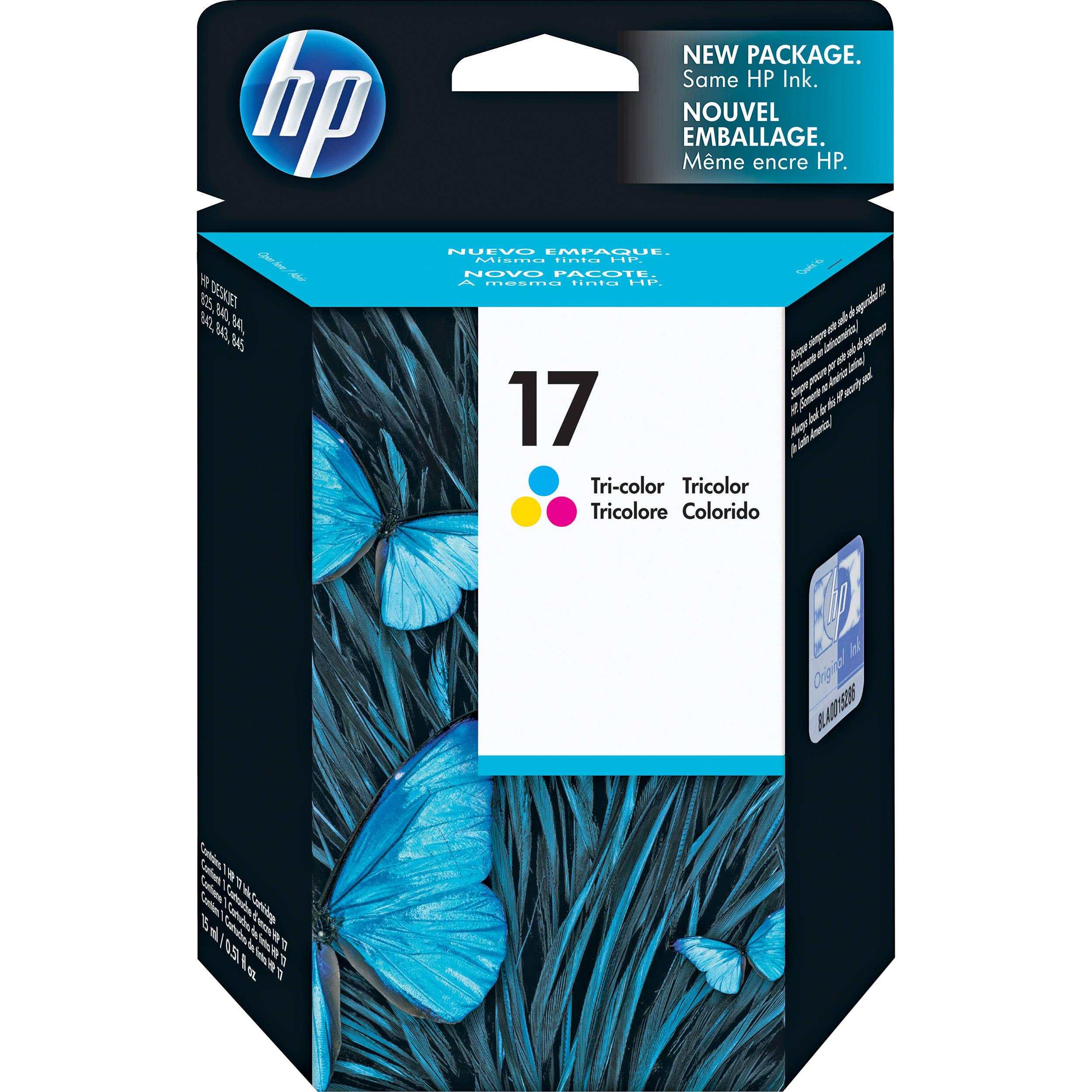 HP 17 Tri Color Inkjet Print Cartridge For Deskjet 840c 842c Printers