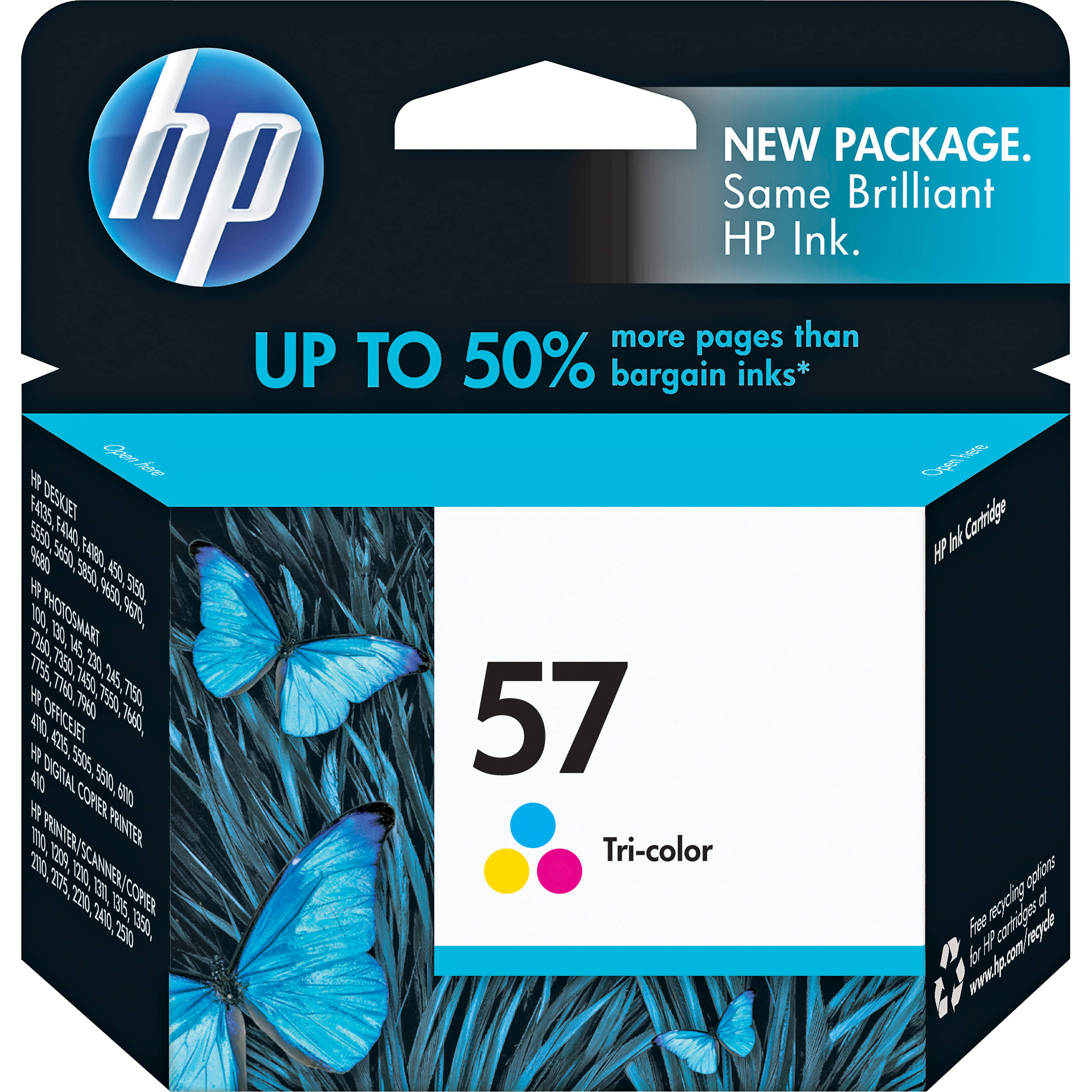 HP 57 Tri Color Inkjet Print Cartridge 17ml