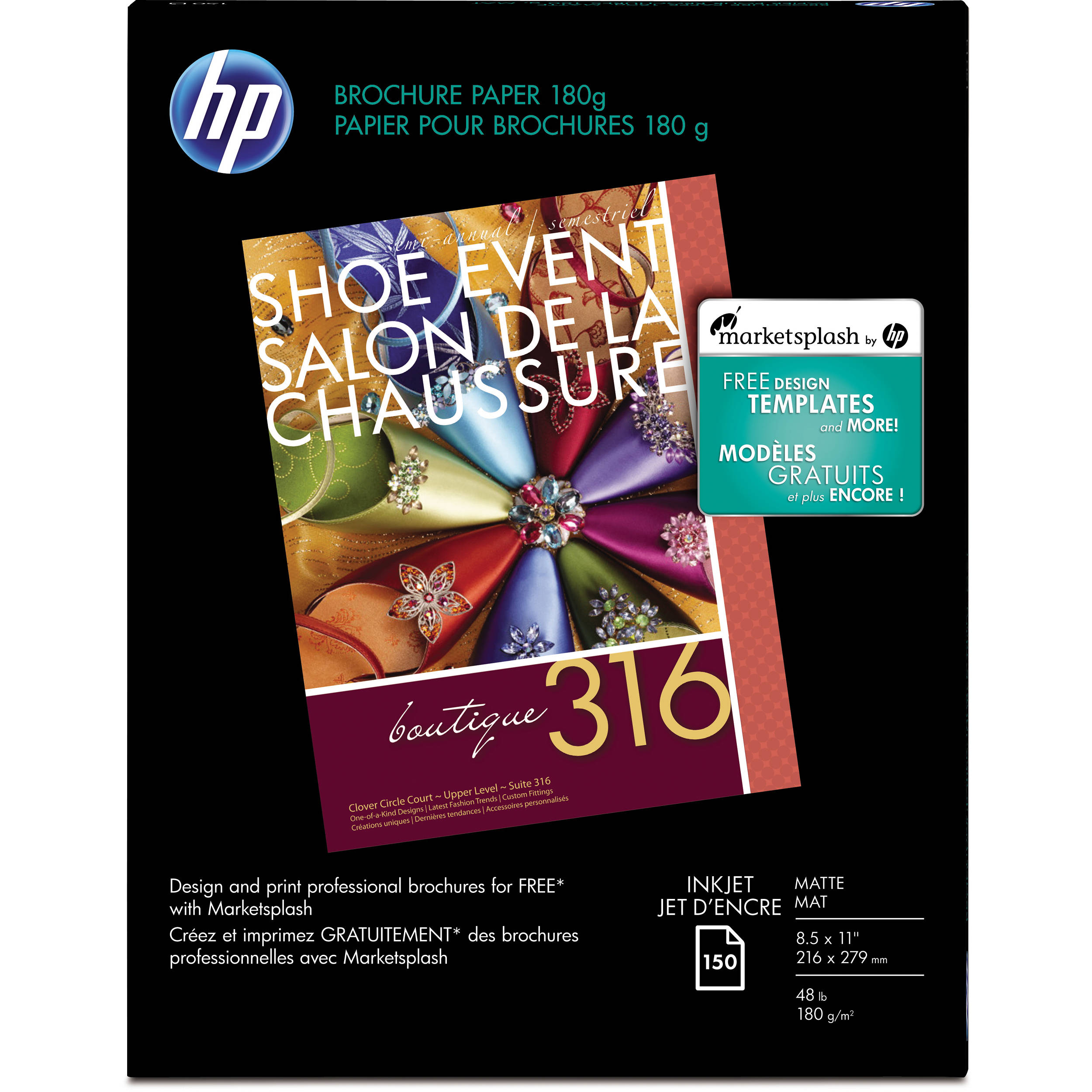 HP Inkjet Matte Brochure Letter Paper X CHA - Hp brochure templates