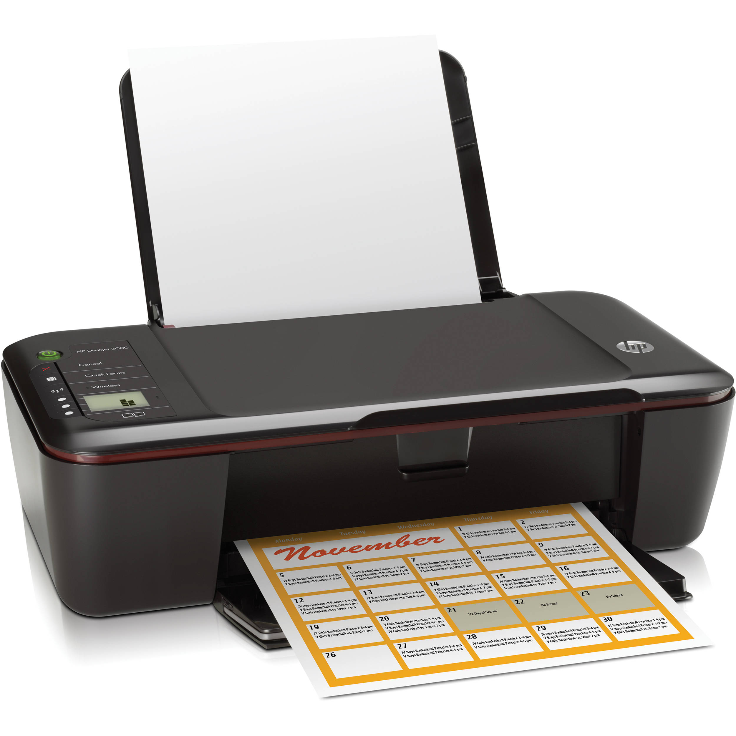 hp deskjet 3000 wireless color inkjet printer ch393a b1h b h rh bhphotovideo com HP Printer Deskjet 3000 J310a HP 3000 Printer Ink